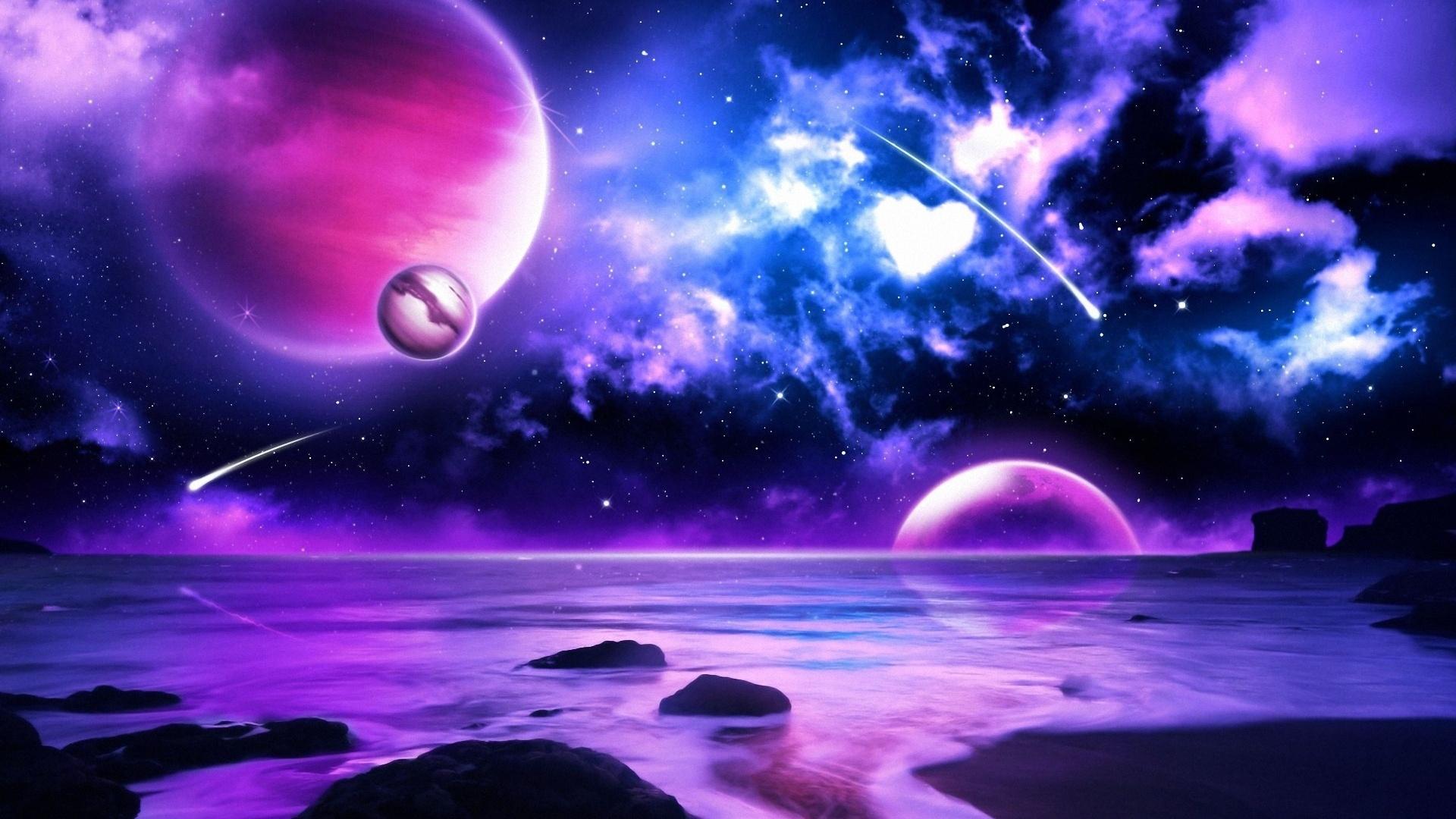 purple space wallpaper Photo