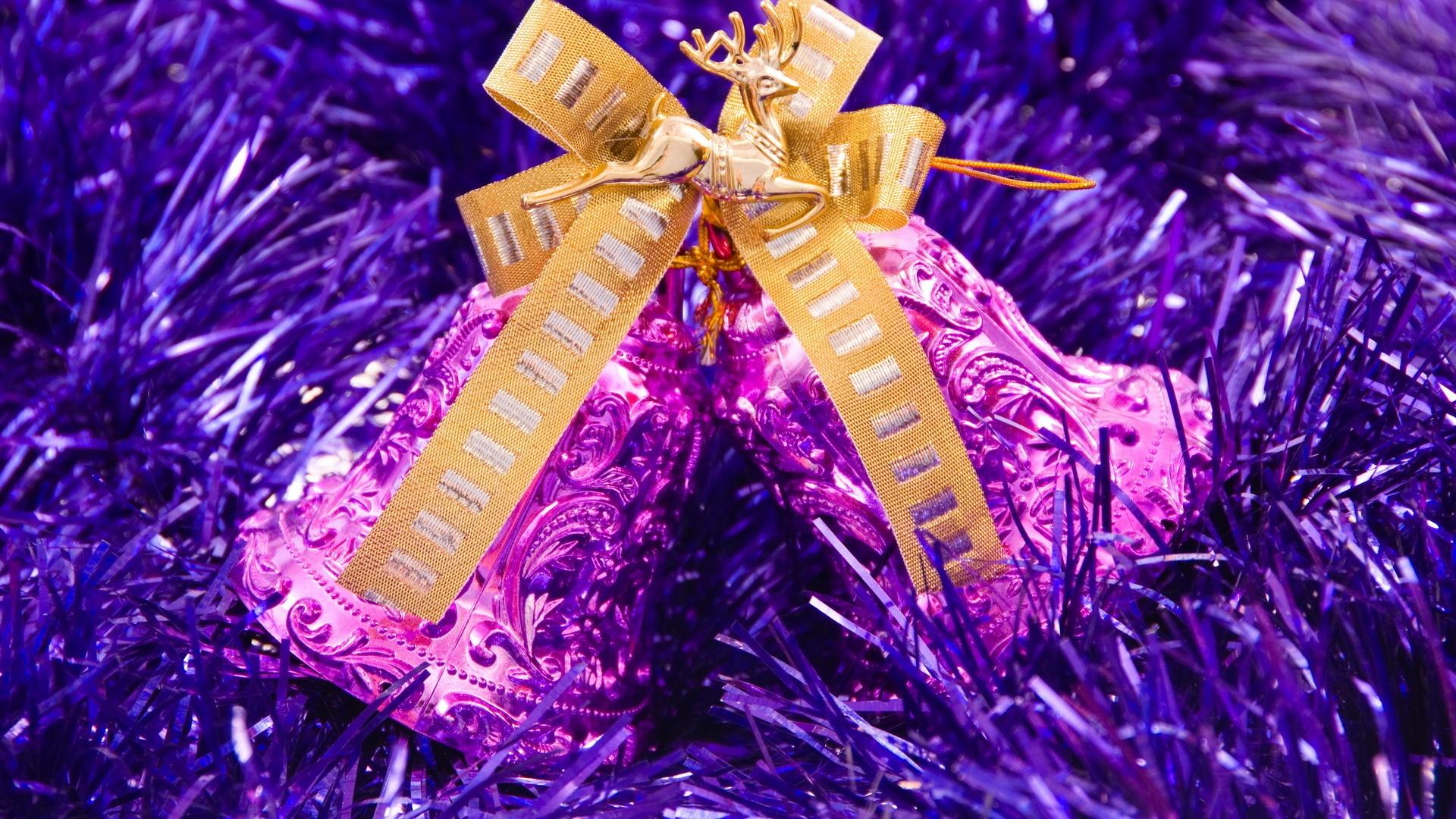 Die violetten glocken von weihnachten 1920x1200 hd - Purple christmas desktop wallpaper ...