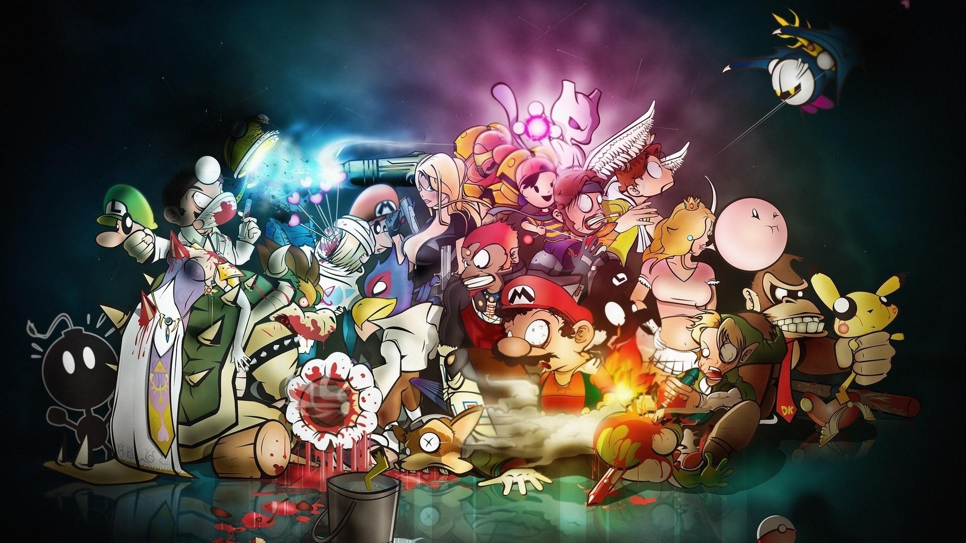 Hd wallpaper best - Jeux Nintendo Mario Fonds D 233 Cran 1920x1080 Full Hd
