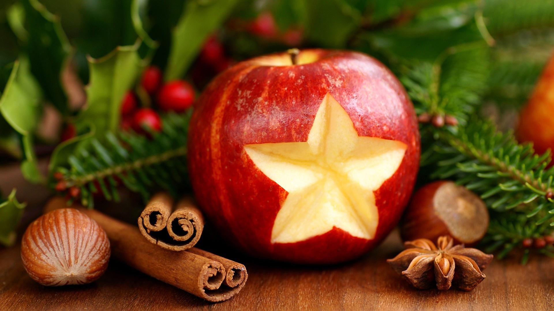 рождественский фон печенье апельсины палочки корицы на телефон