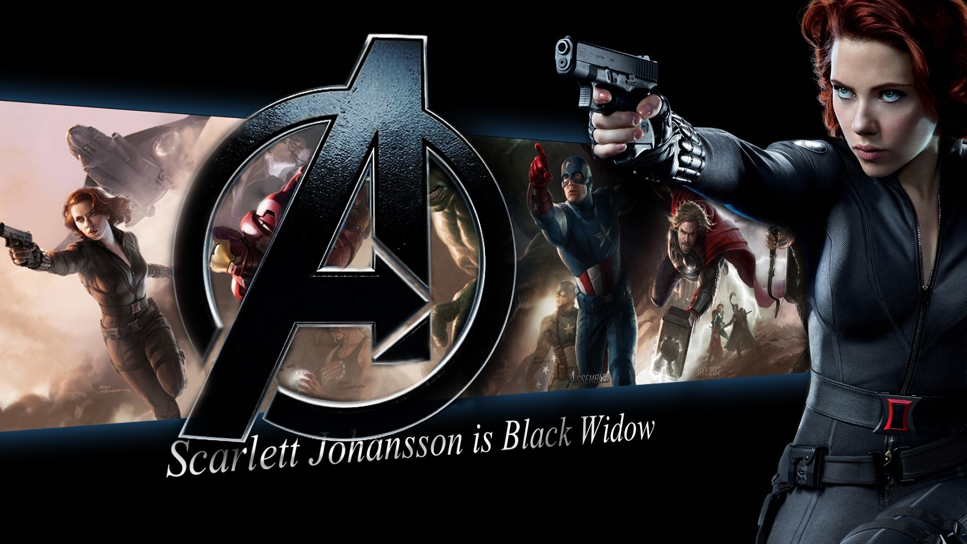 Wallpaper Scarlett Johansson Is Black Widow The Avengers 1920x1080 Full Hd 2k Picture Image