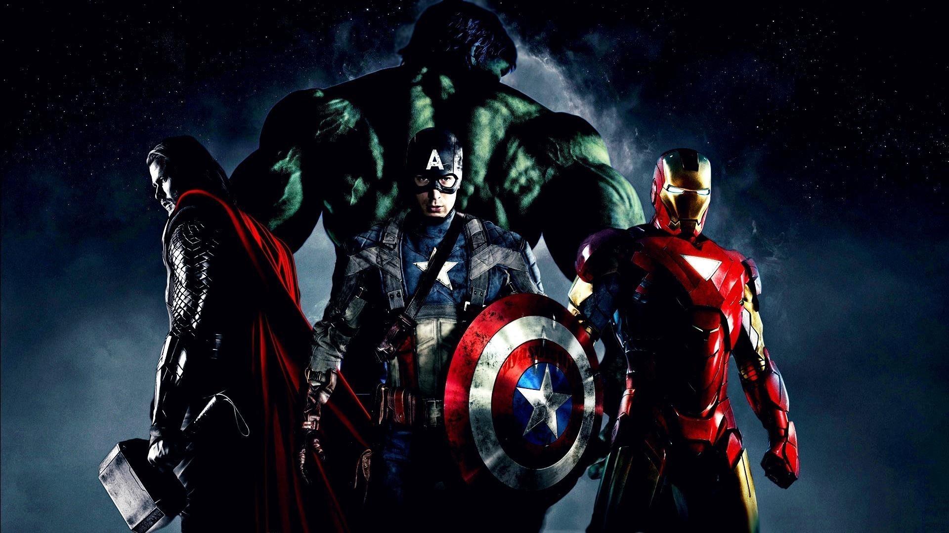 Avengers Captain America Thor Hulk Iron Man Wallpapers