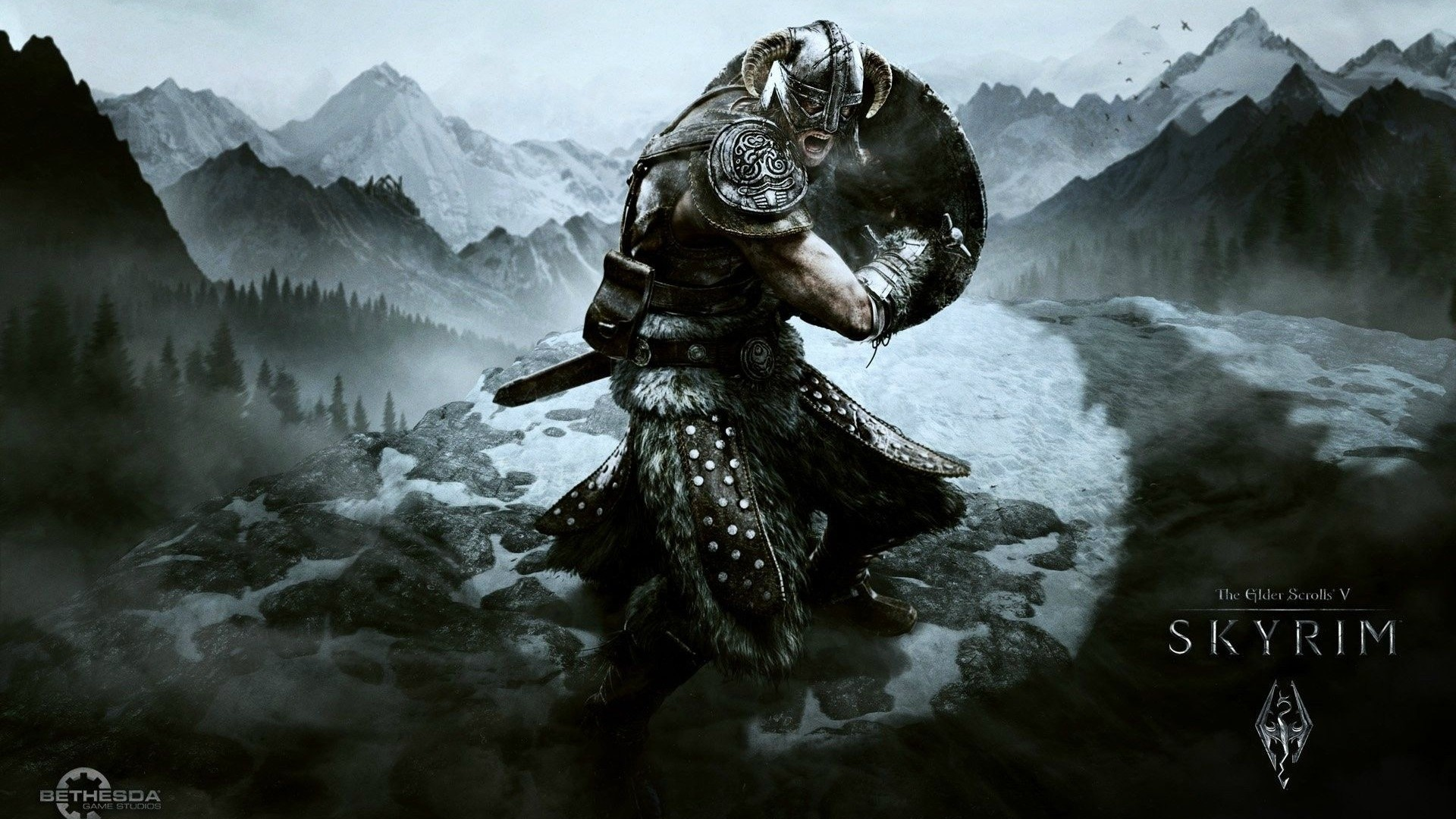 The Elder Scrolls V: Skyrim game HD wallpaper - 1920x1080