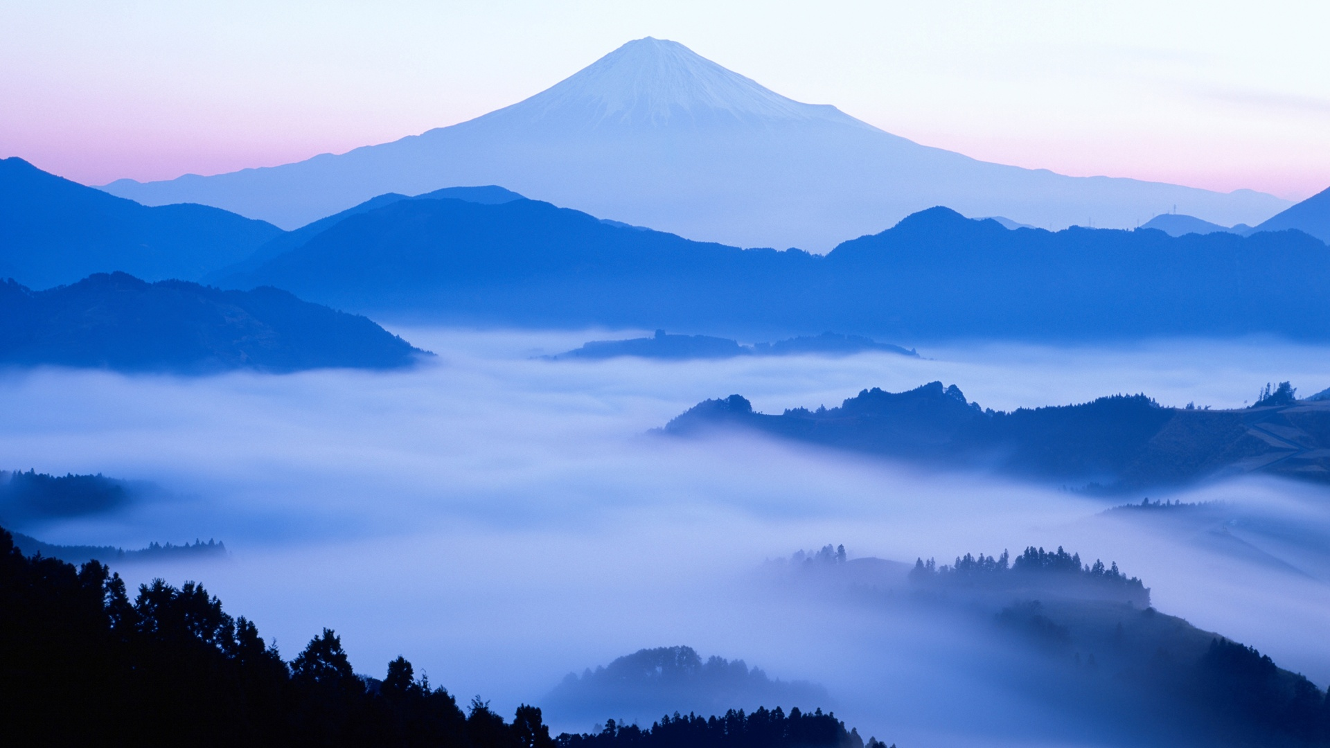 The dawn of Japan's Mount Fuji beauty wallpaper - 1920x1080