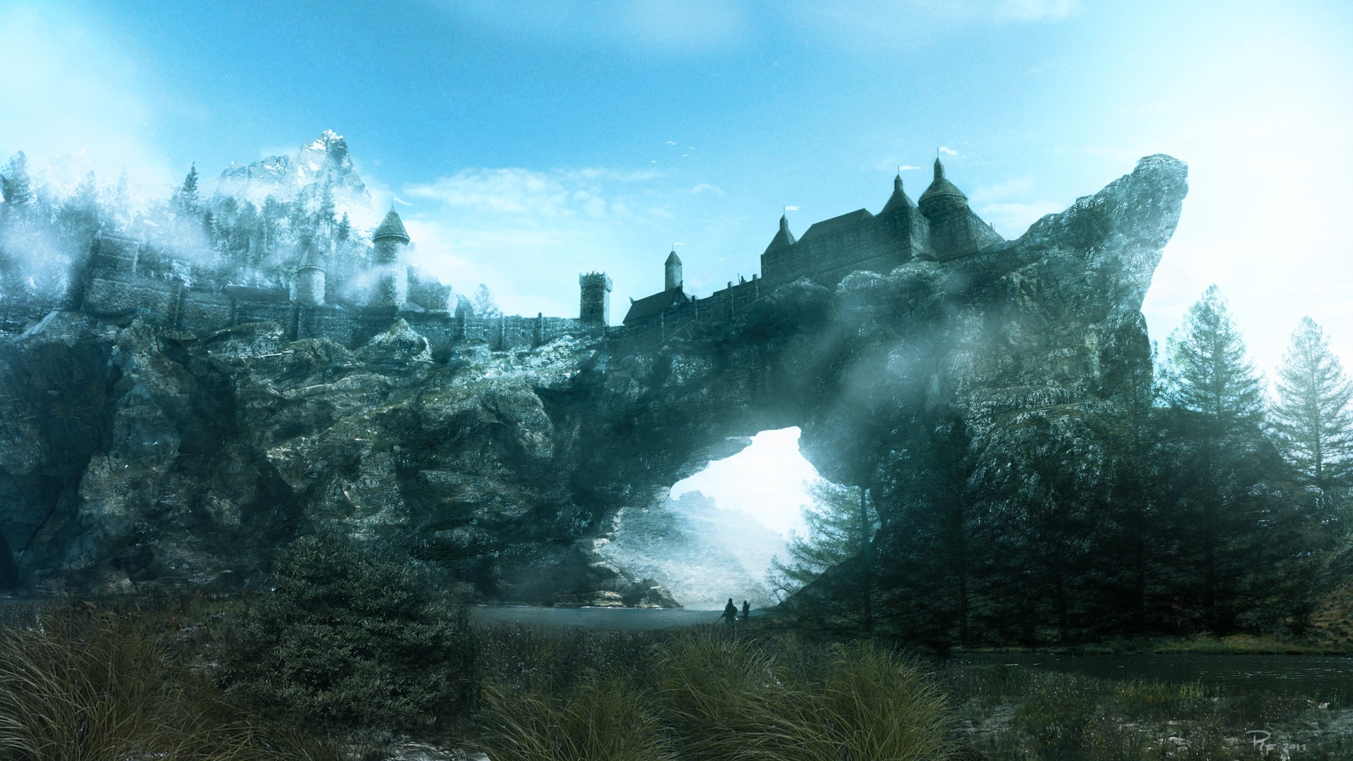 Wallpaper The Elder Scrolls V: Skyrim HD game 1920x1080 Full HD 2K