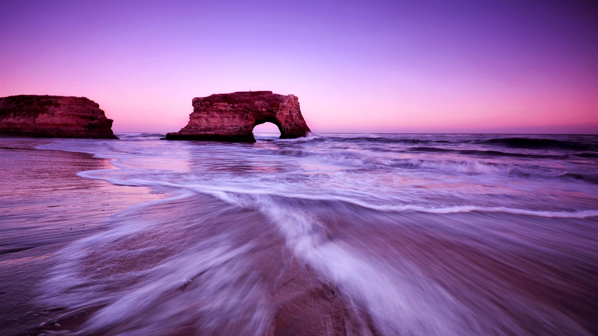 Strand himmel sch nen lila leuchten 2560x1600 hd for Immagini hd apple
