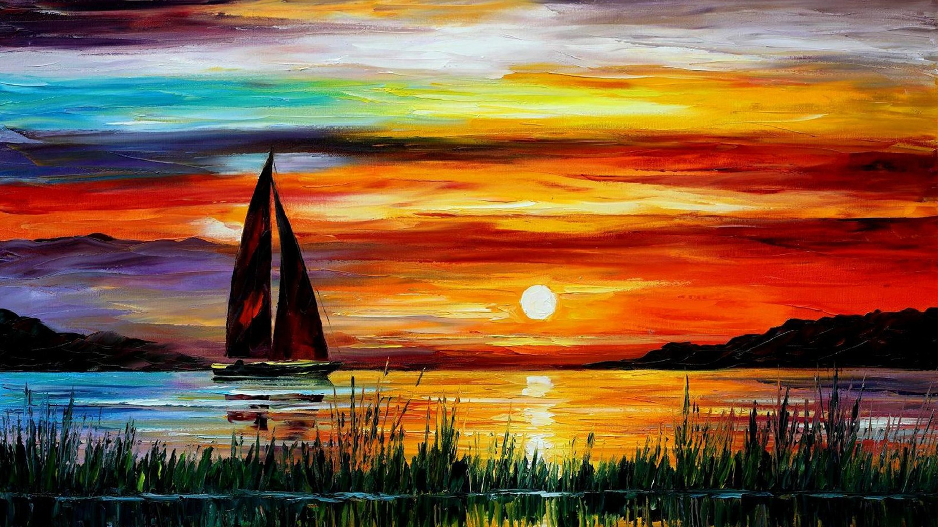 Sunset Painting on 1208 html