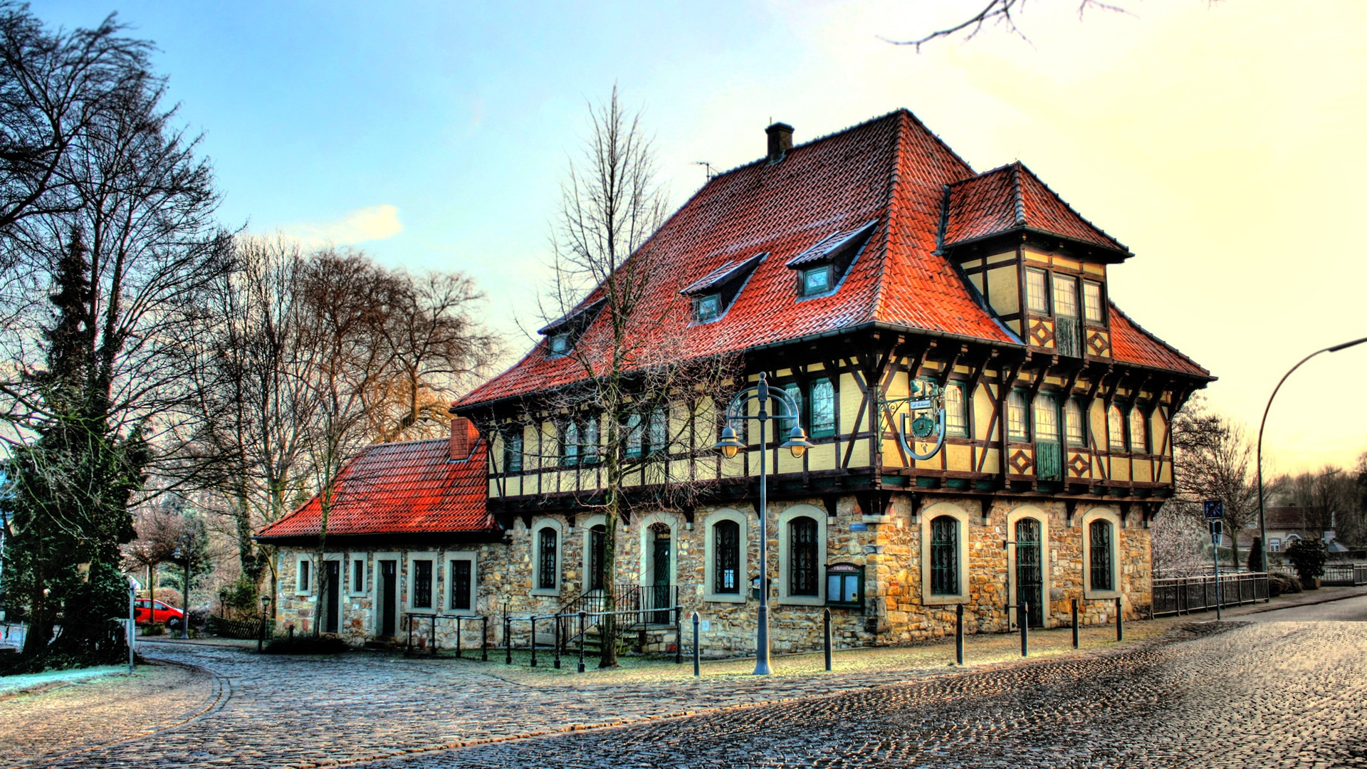 wallpaper steinfurt house in germany 2560x1600 hd picture image