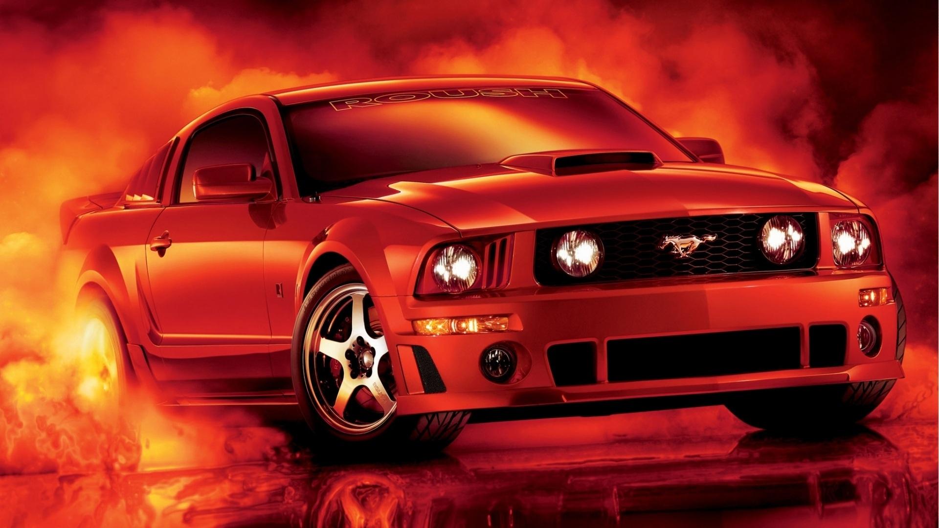 Download Wallpaper 1920x1080 Red Ford mustang car Full HD ...
