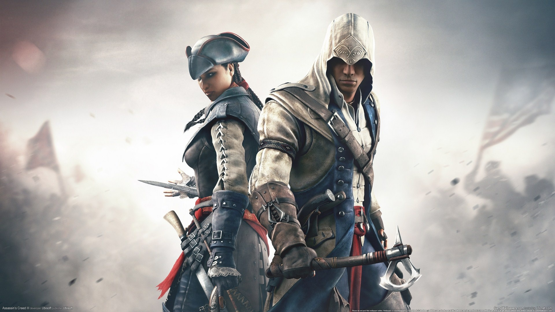 Wallpaper assassins creed 3 pc game 1920x1080 full hd picture image download this wallpaper voltagebd Gallery