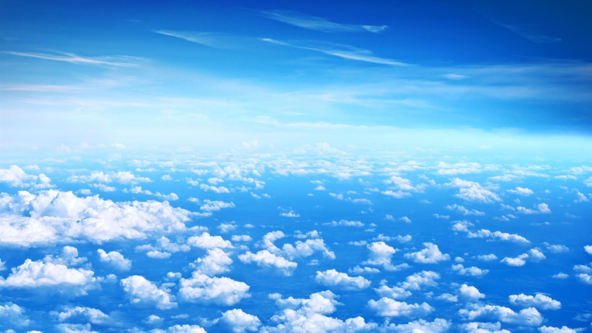 Fonds D 233 Cran Beaux Nuages Ciel Bleu Nuages Blancs
