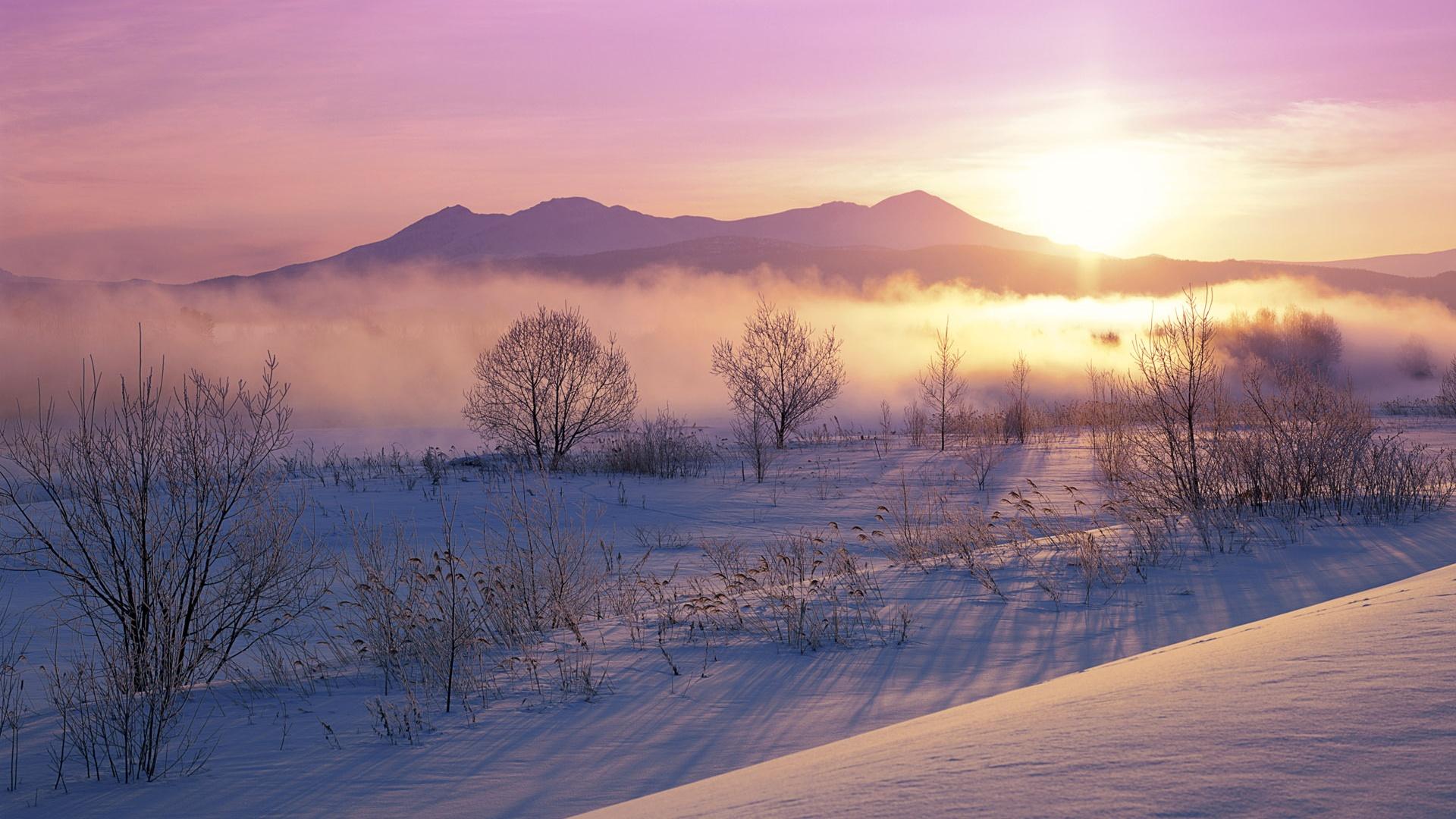 Wallpaper japan winter nature dusk snow 1920x1200 hd - Wallpaper hd nature winter ...