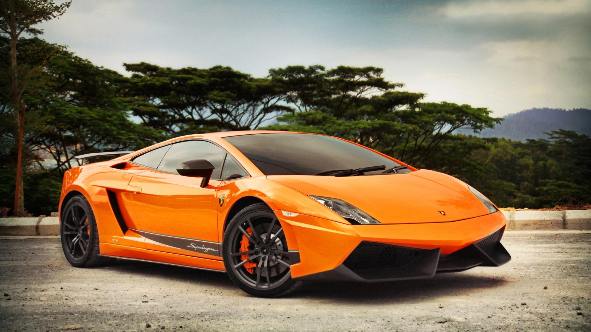 Lamborghini Gallardo LP570-4 orange color Wallpaper | 1920x1080 Full ...