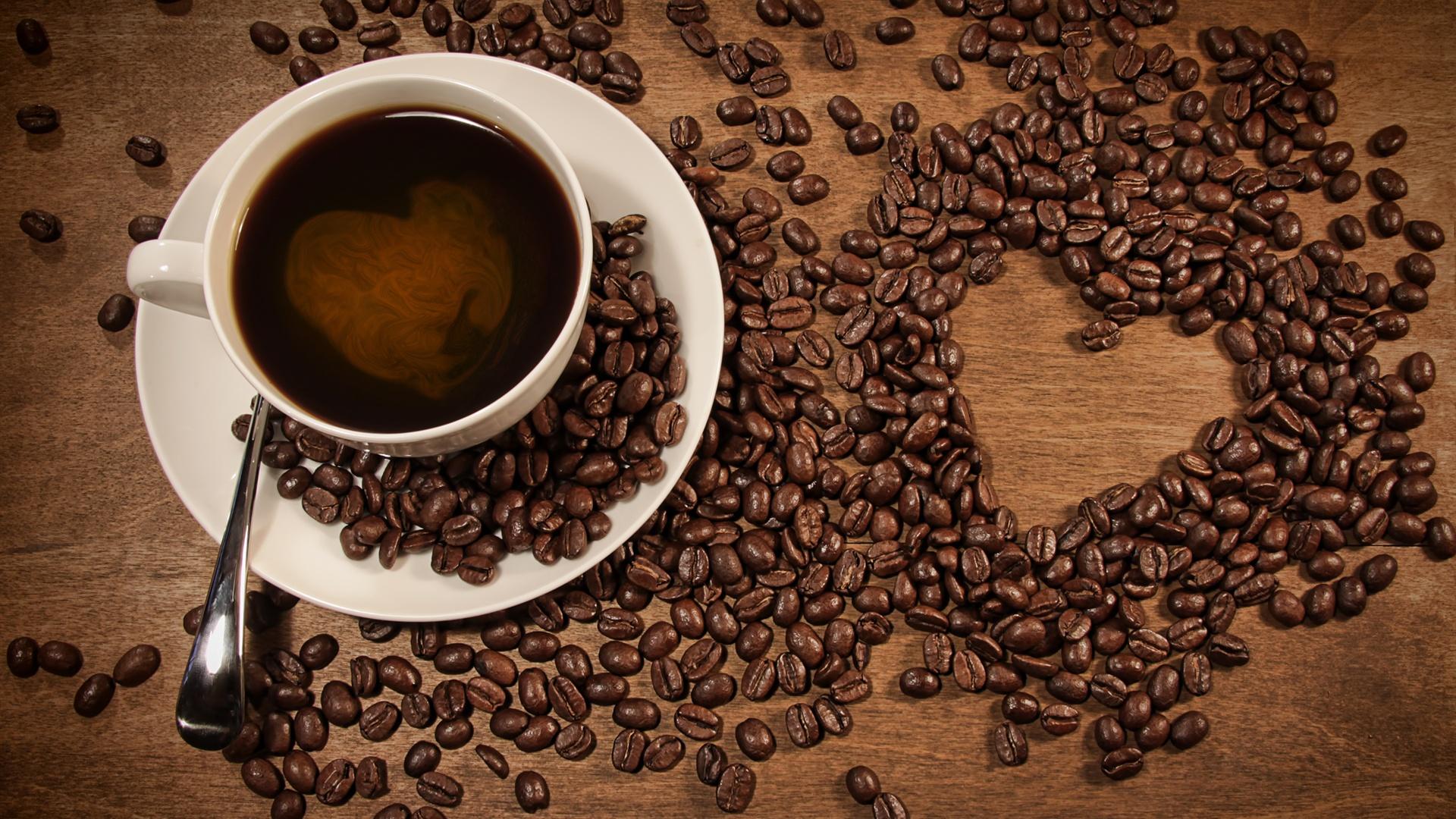 Pap is de parede uma x cara de caf gr os de caf - Bilder cappuccino ...