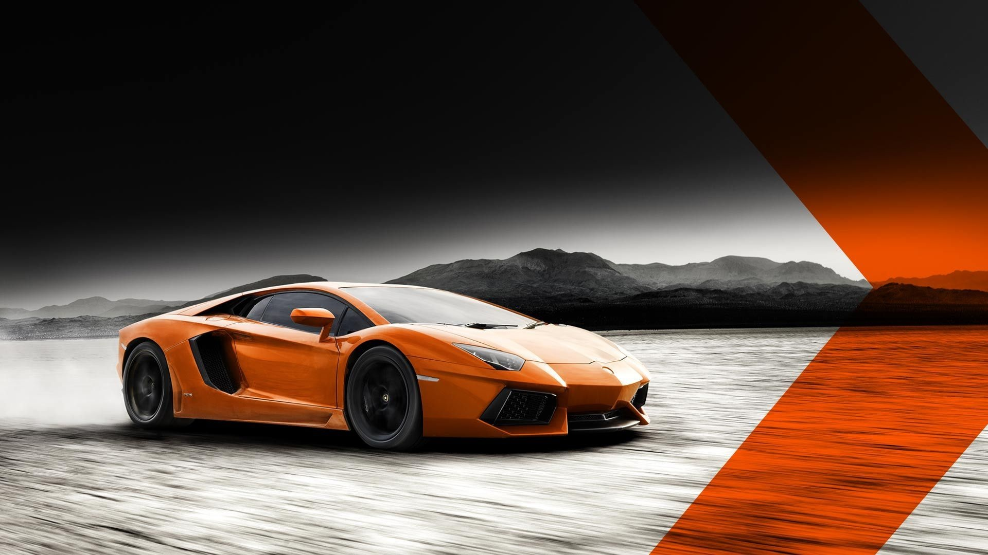 Wallpaper Lamborghini Aventador Lp700 4 Orange Color Supercar