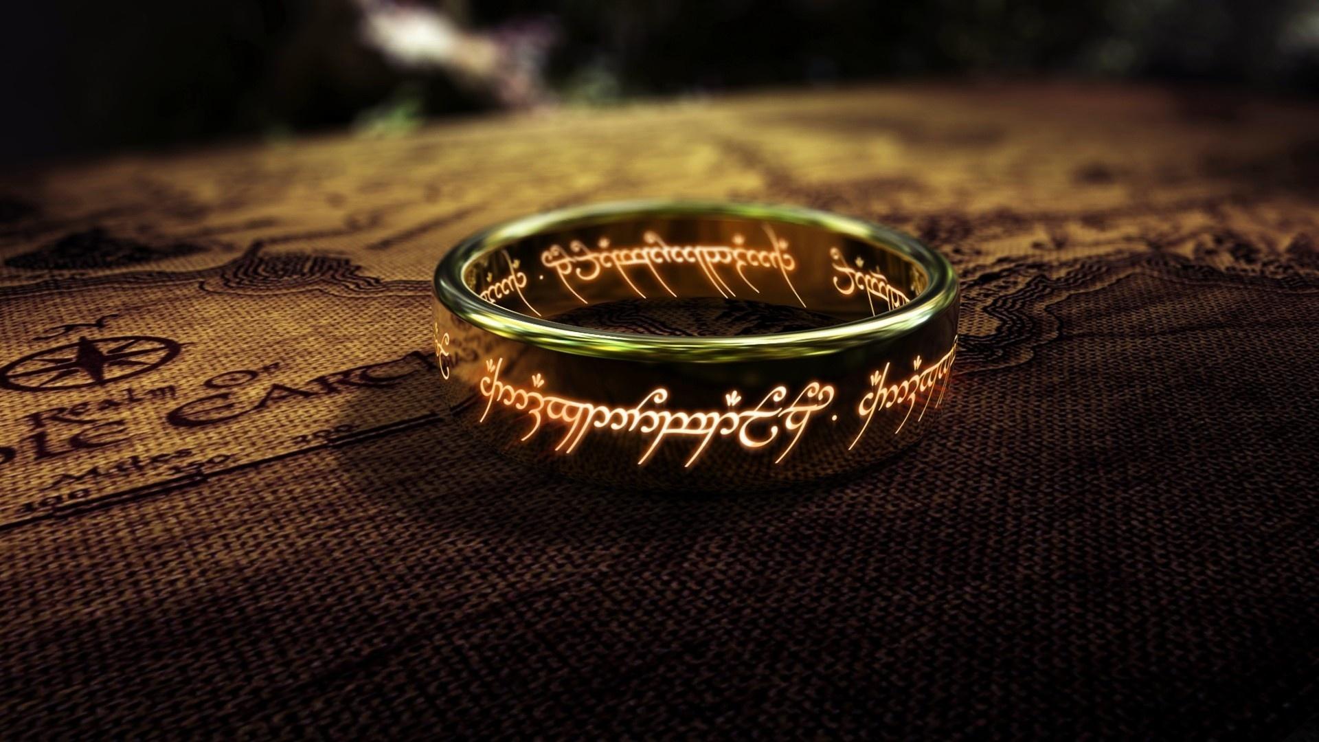 Herr der ringe einer der ring close up hintergrundbilder 1920x1080