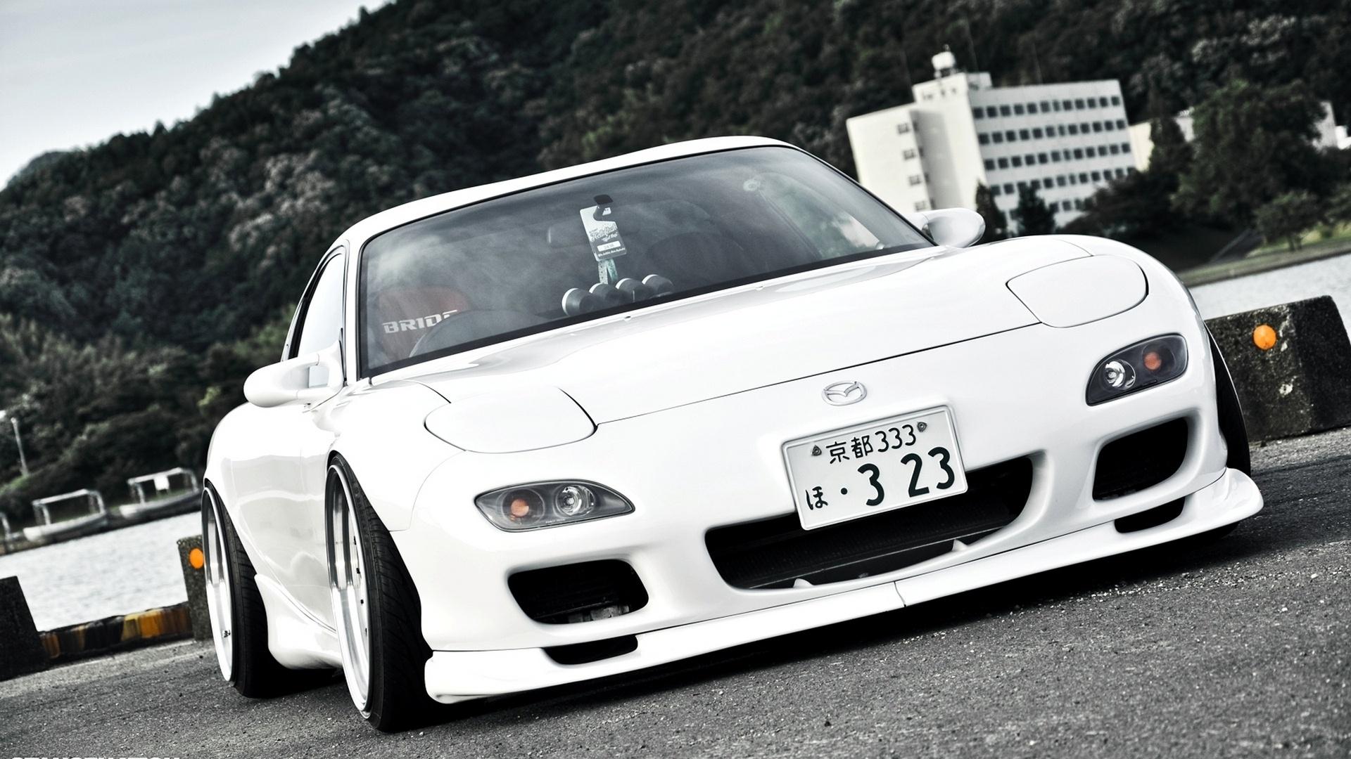 Wallpaper Mazda Rx7 White Car Japan 1920x1080 Full Hd 2k
