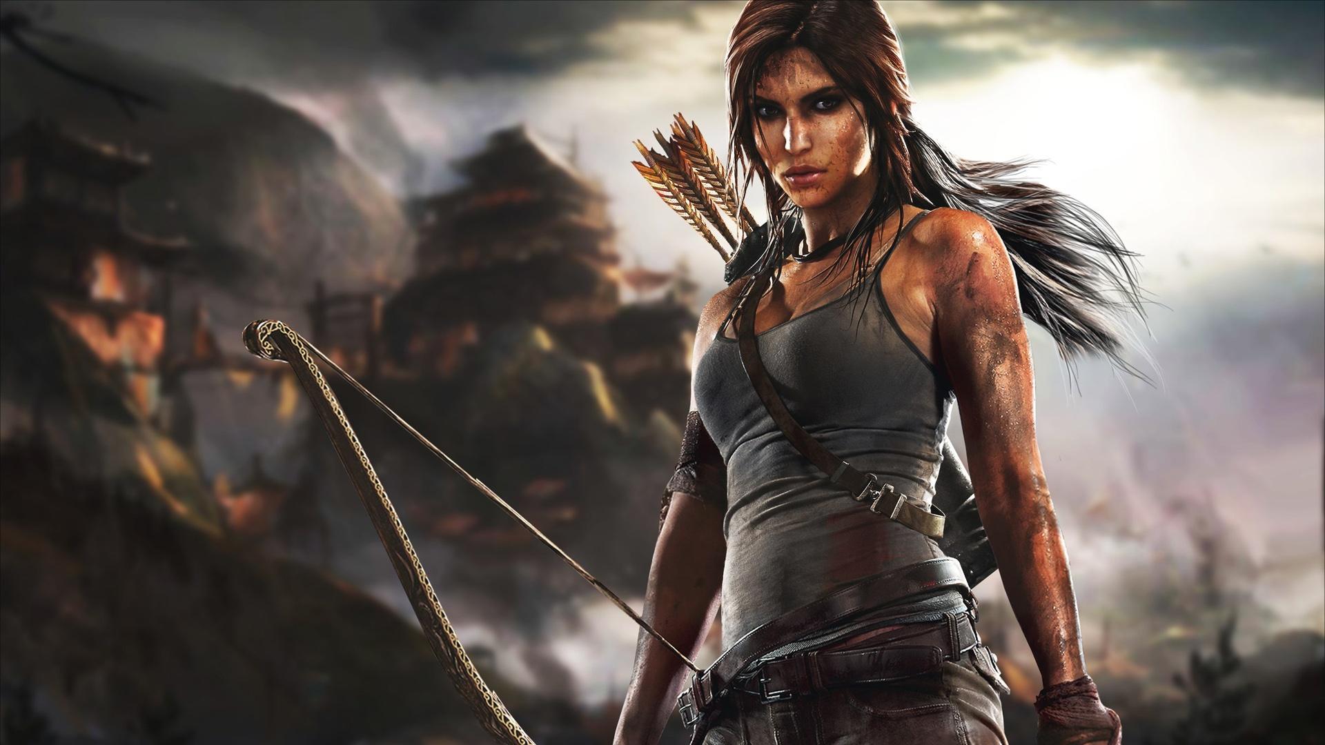 Wallpaper Lara Croft In Tomb Raider Game 1920x1200 Hd