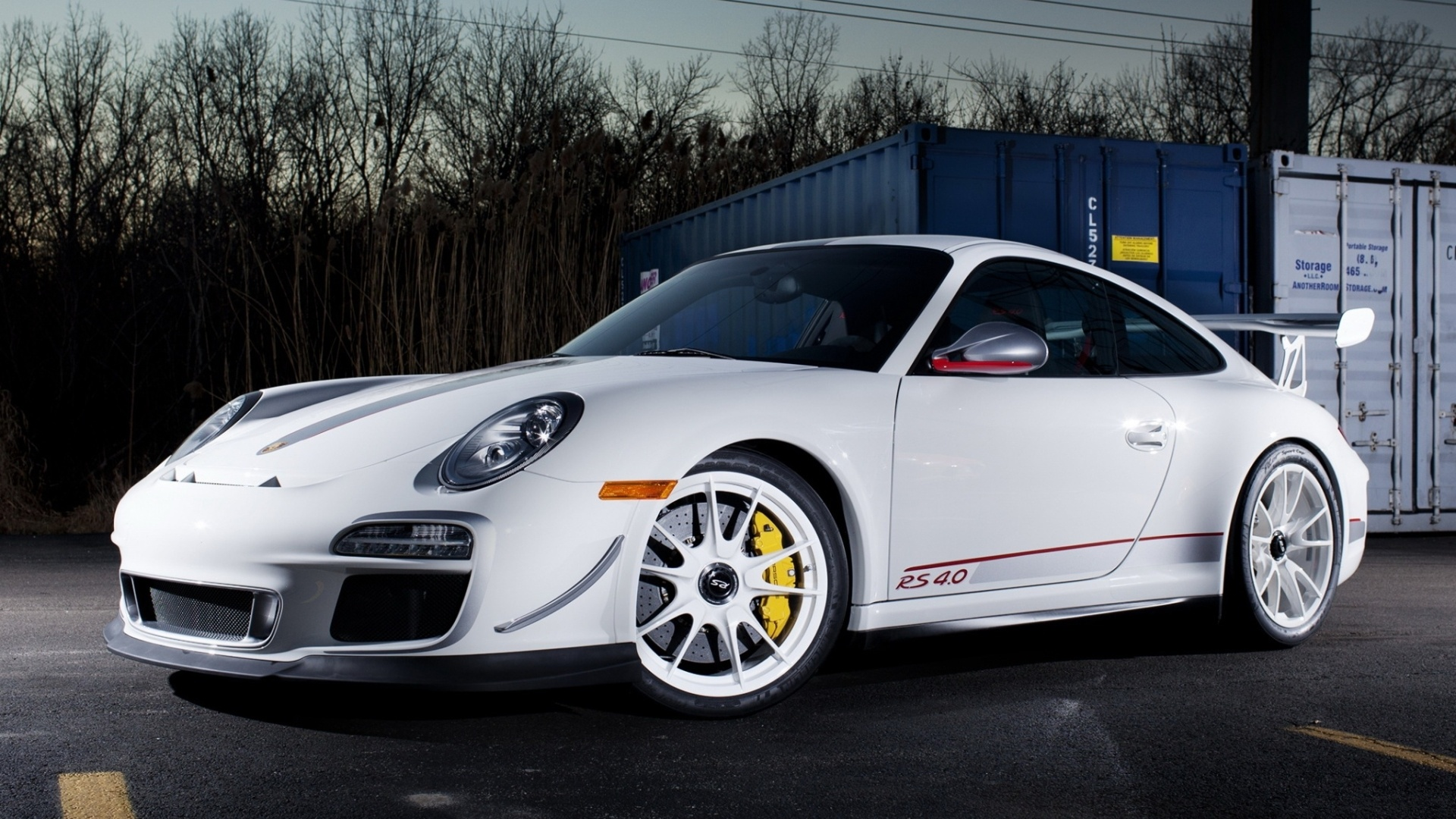 Wallpaper Porsche 911 GT3 RS 4.0 White Color 1920x1200 HD