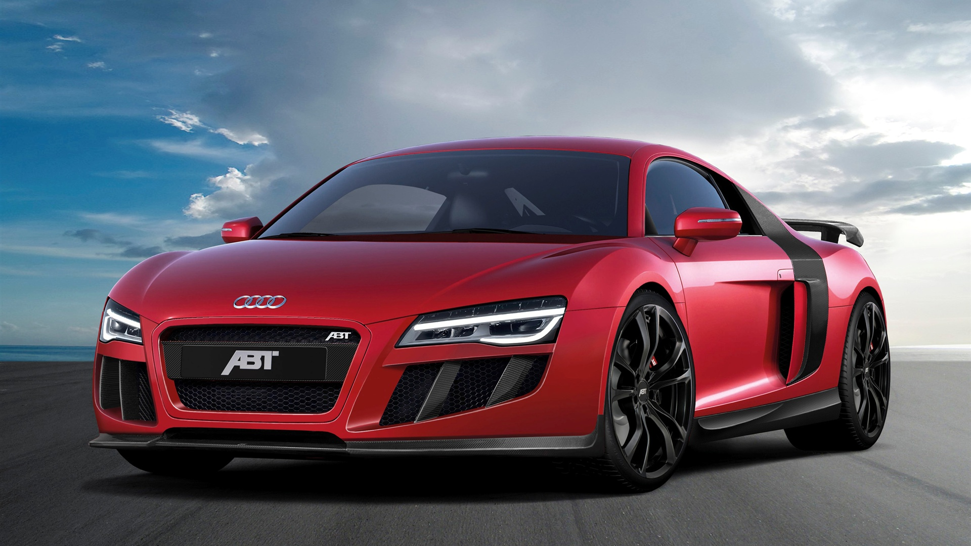 Wallpaper 2013 Abt Audi R8 V10 Red Supercar 2560x1600 HD Picture Image