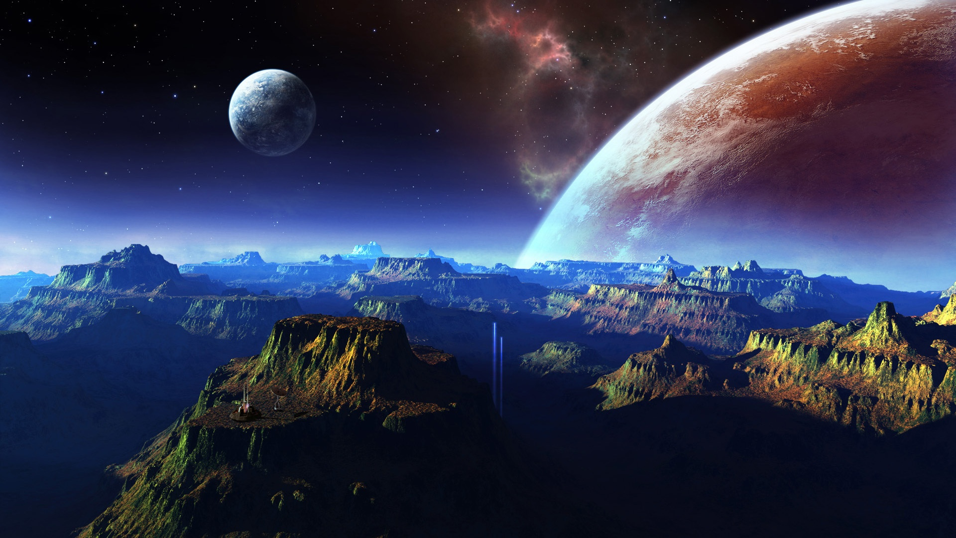 壁紙 幻想的な風景 山 宇宙 惑星 1920x1080 Full Hd 2k 無料の