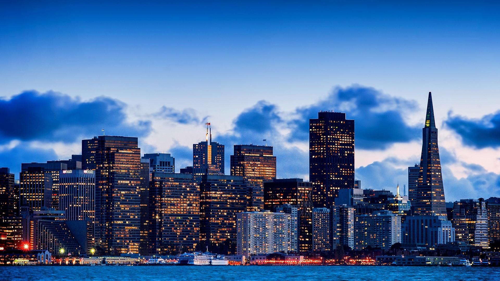 Hd wallpaper city - San Francisco Kalifornien Usa Stadt Bucht Abend