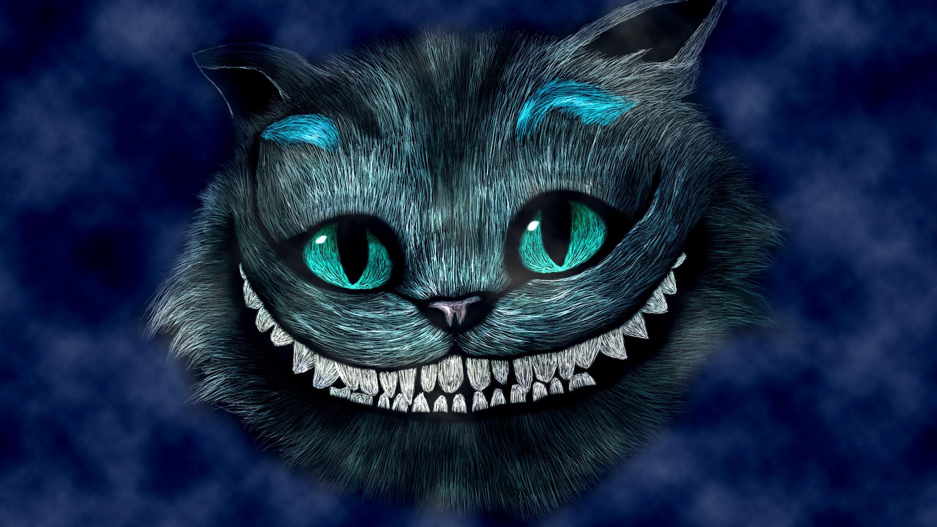 Alice au pays des merveilles, souriant Cheshire Cat Fonds d'écran   1920x1080 Full HD Fonds d ...