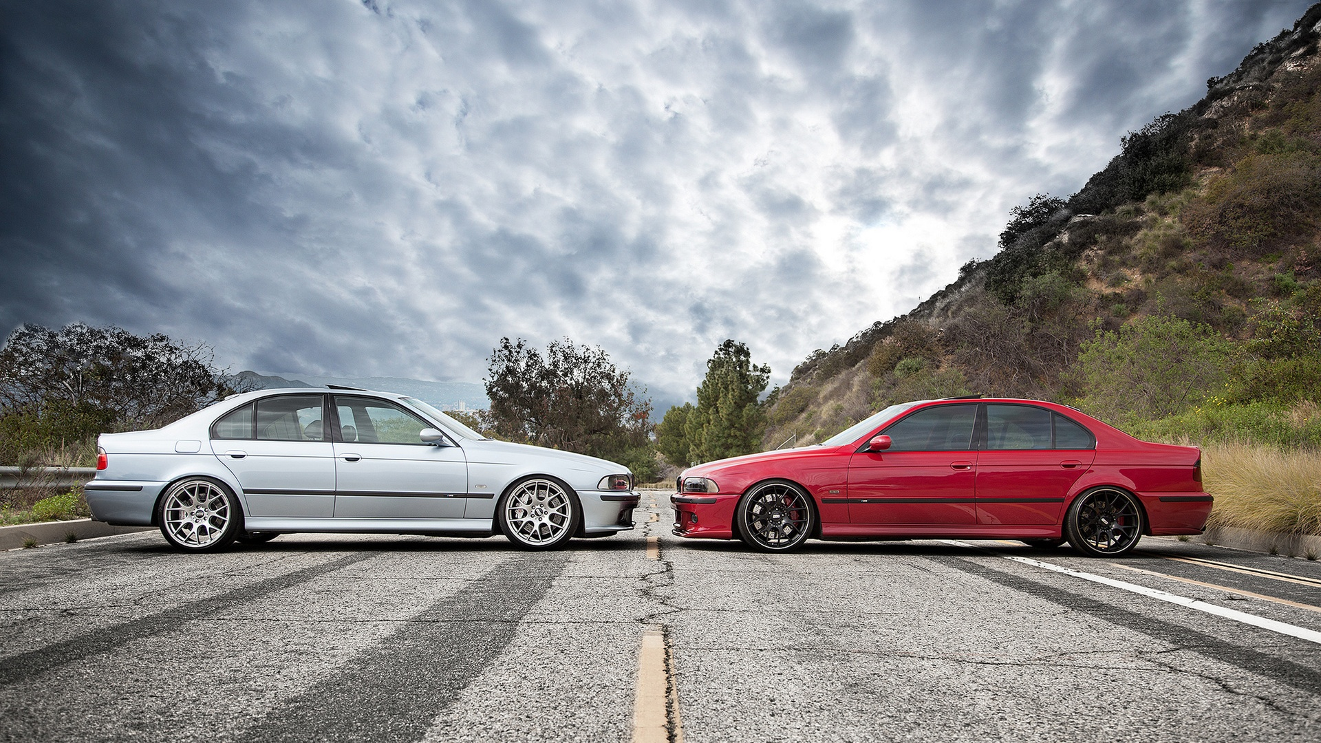 Wallpaper Bmw M5 E39 Red And Blue Car 1920x1200 Hd Picture