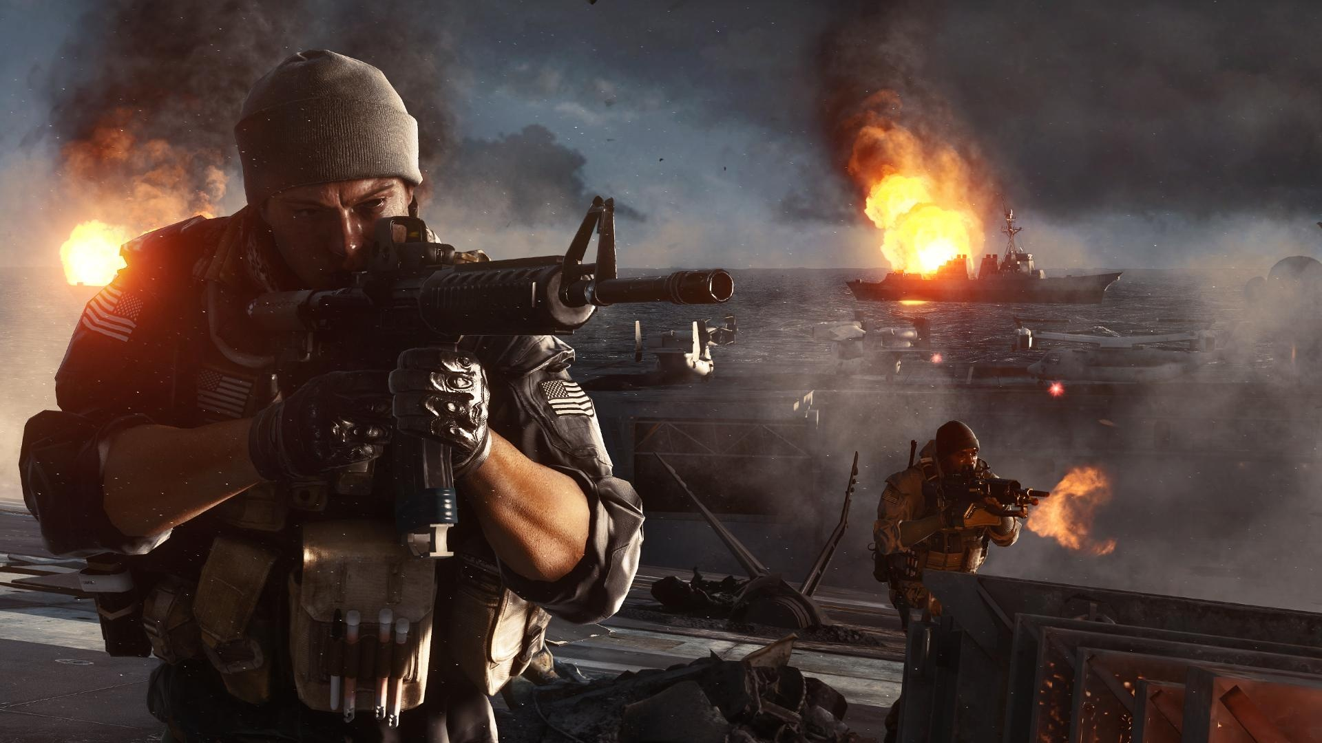 Battlefield4の船上での銃撃戦