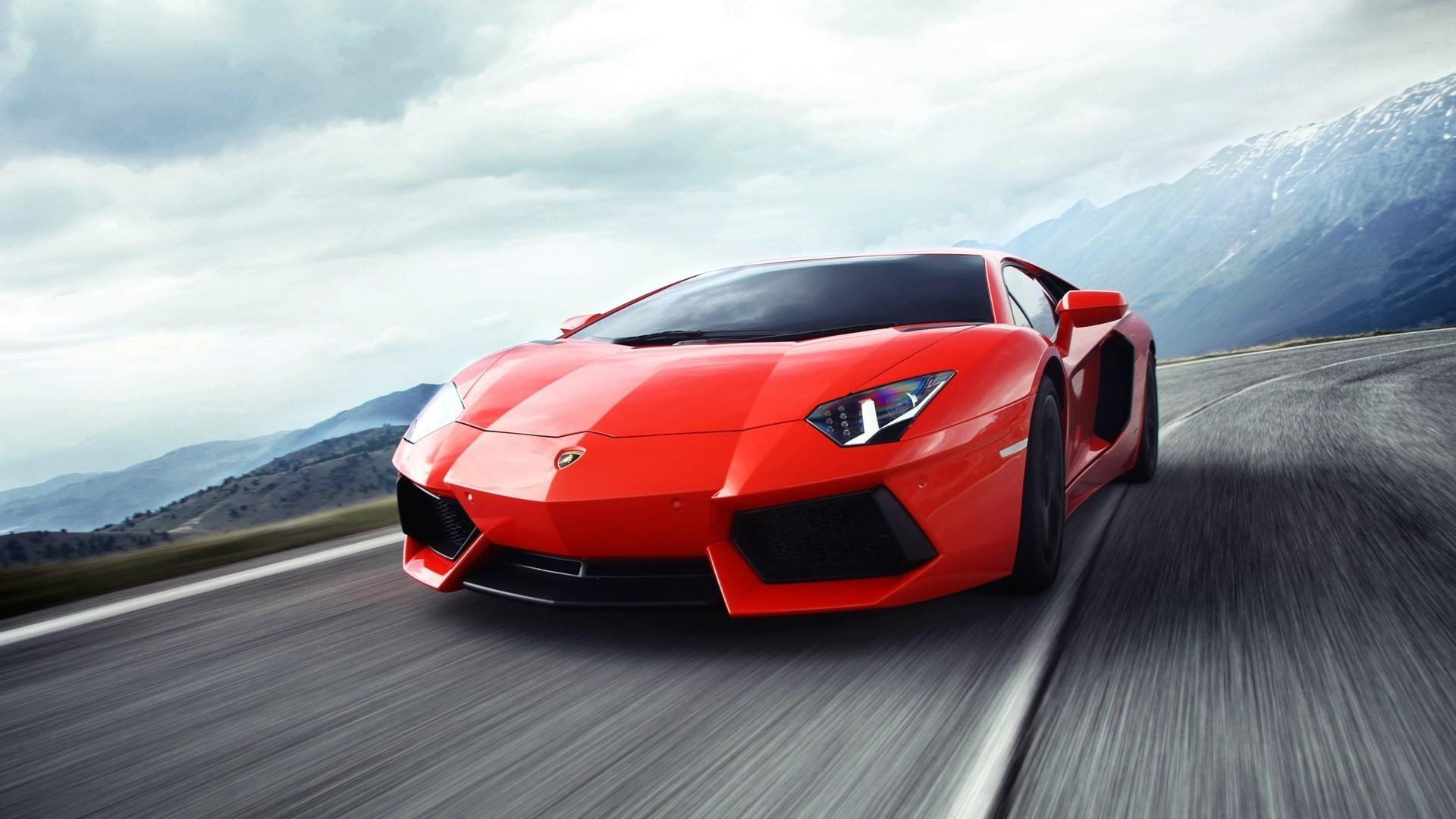 спортивный автомобиль красный lamborghini  № 719743  скачать