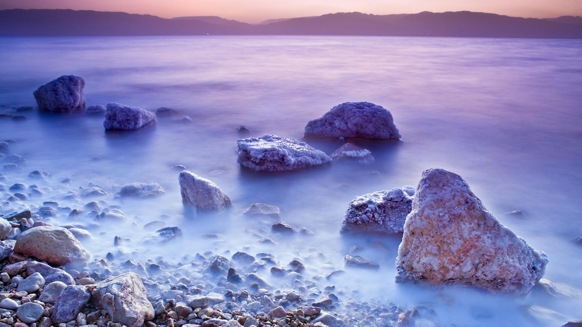 Wallpaper Dead Sea Sunset Scenery 1920x1200 Hd Picture Image