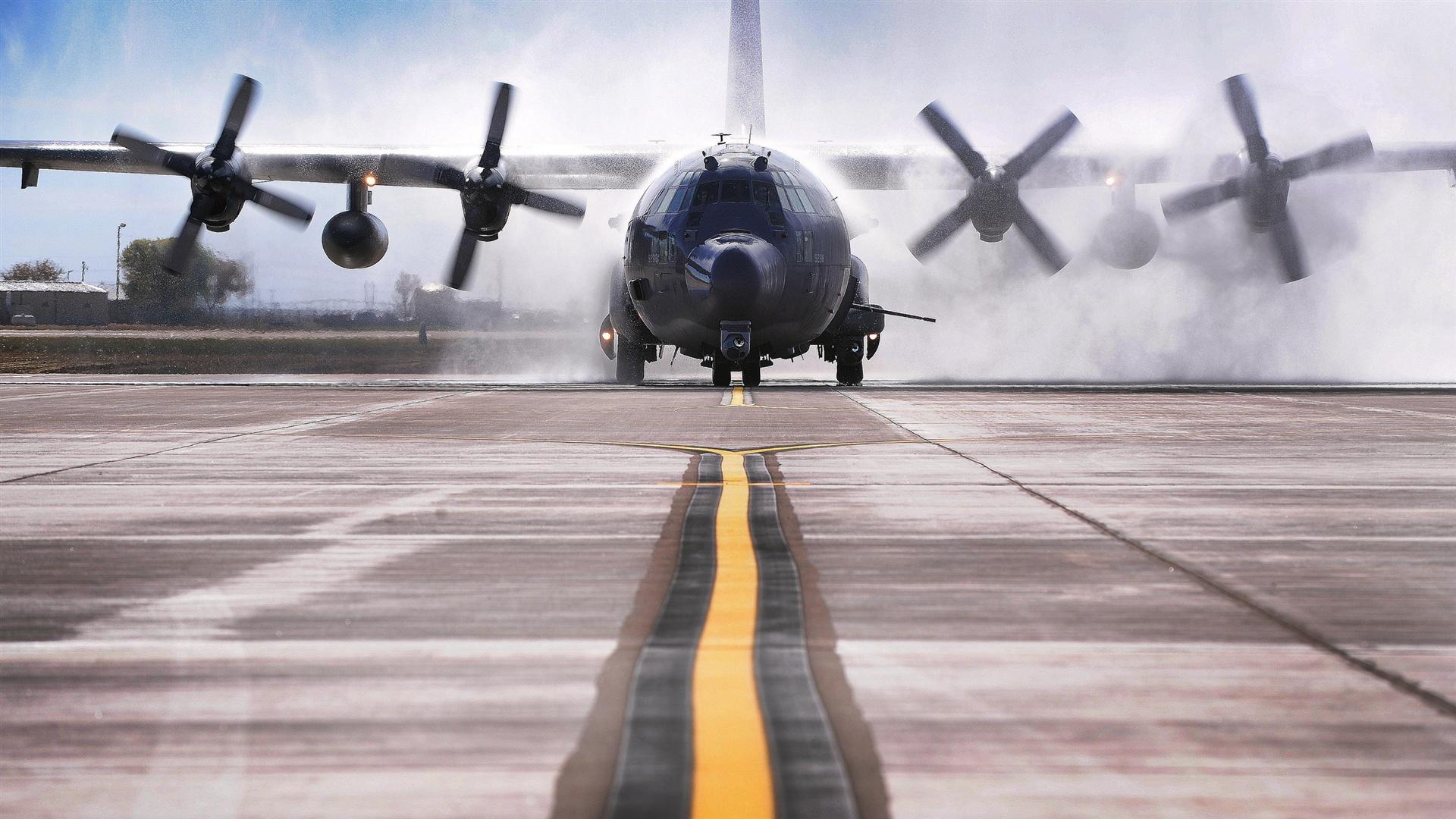 ac 130w stinger ii aircraft take off wallpaper 1920x1080