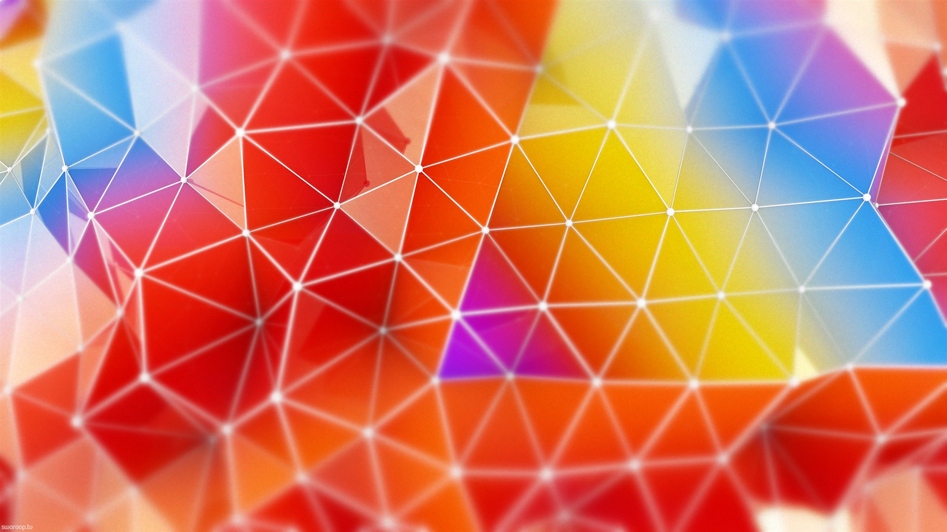 Render Abstract Triangle Colors 750x1334 Iphone 8 7 6 6s