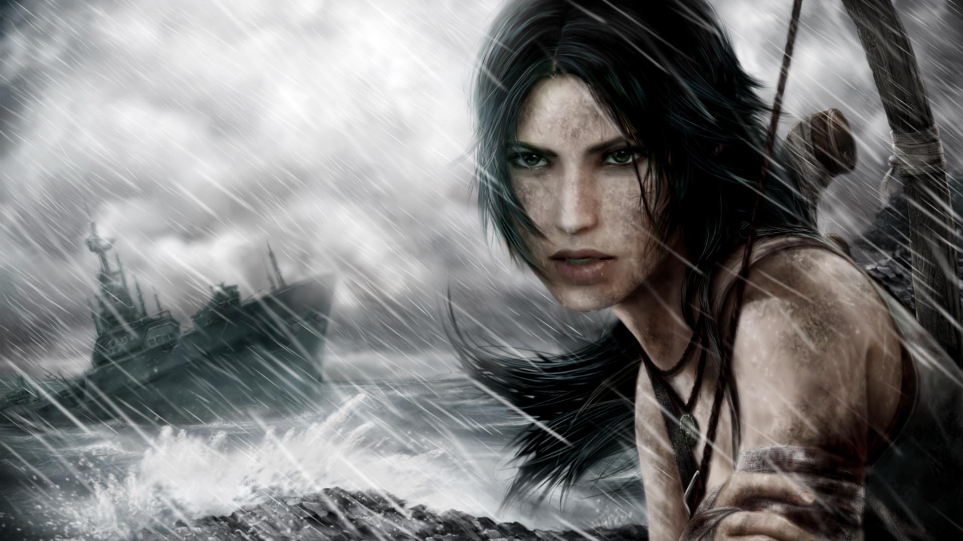 Wallpaper Tomb Raider Lara Croft Storm Day 1920x1080 Full
