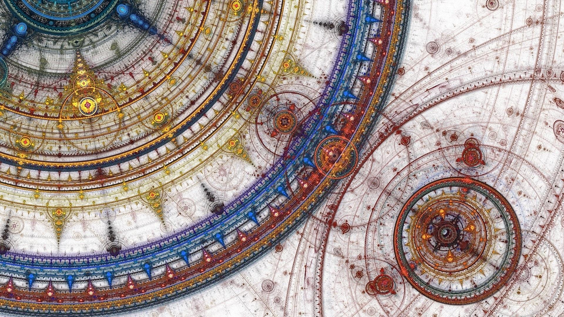 1920x1080 Abstracto Full Hd 1920x1080: Ilustraciones Abstractas Círculos, Arte Digital, Diseño