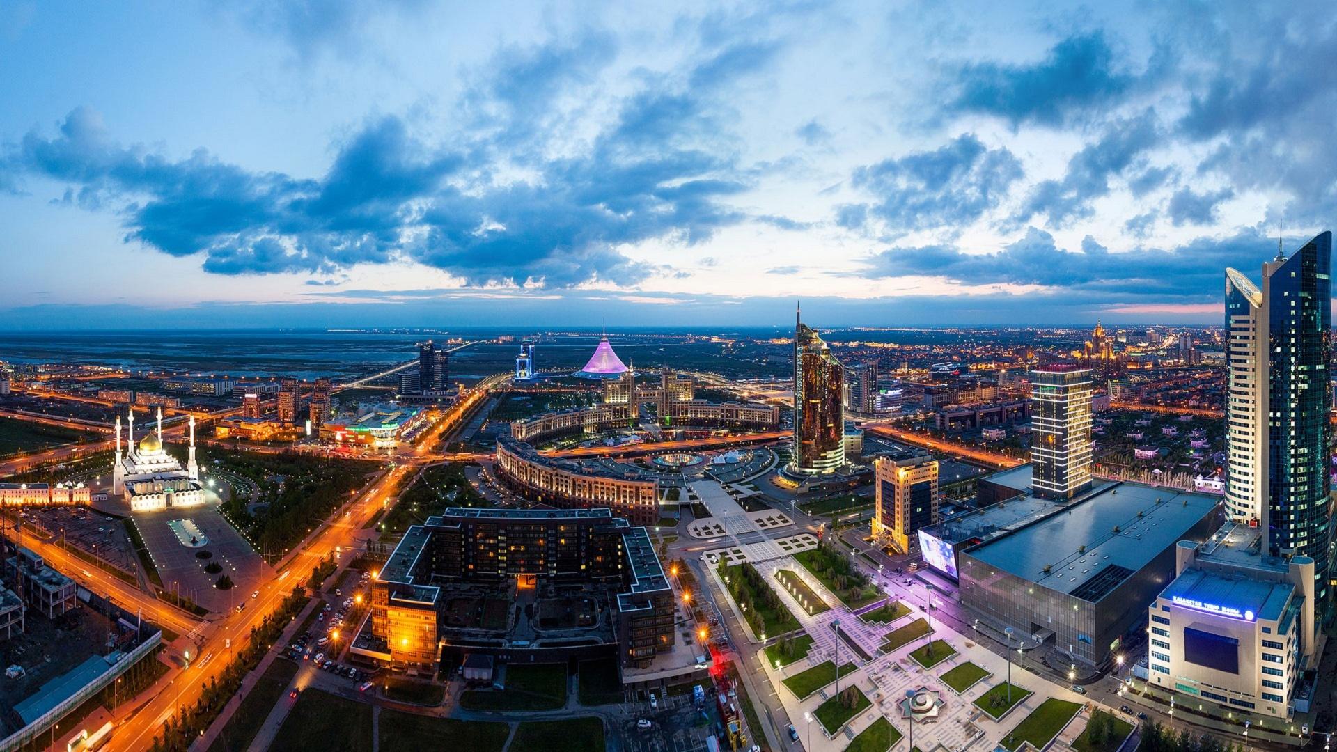 Обои здания, свет, дома, kazakhstan, казахстан. Города foto 9