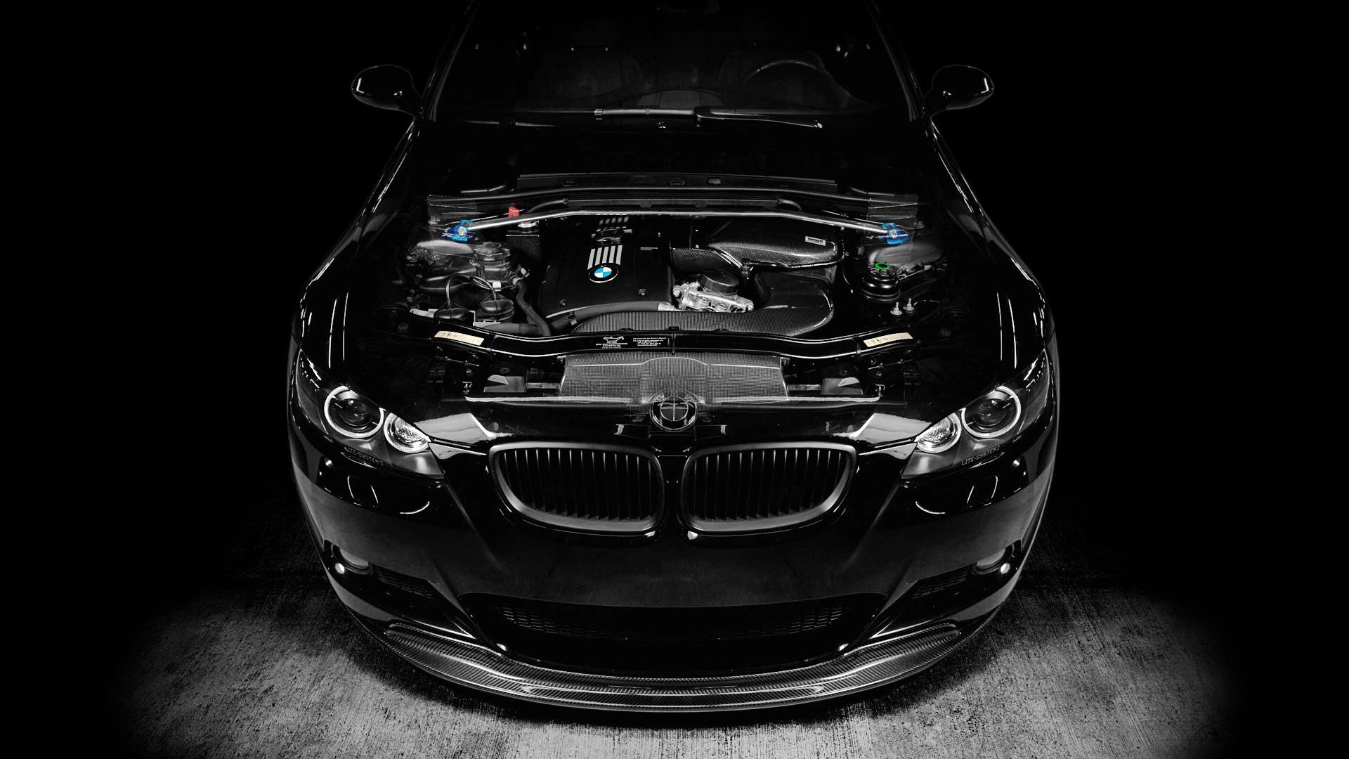 Wallpaper Bmw M3 Black Car Engine Tuning 1920x1080 Full Hd 2k