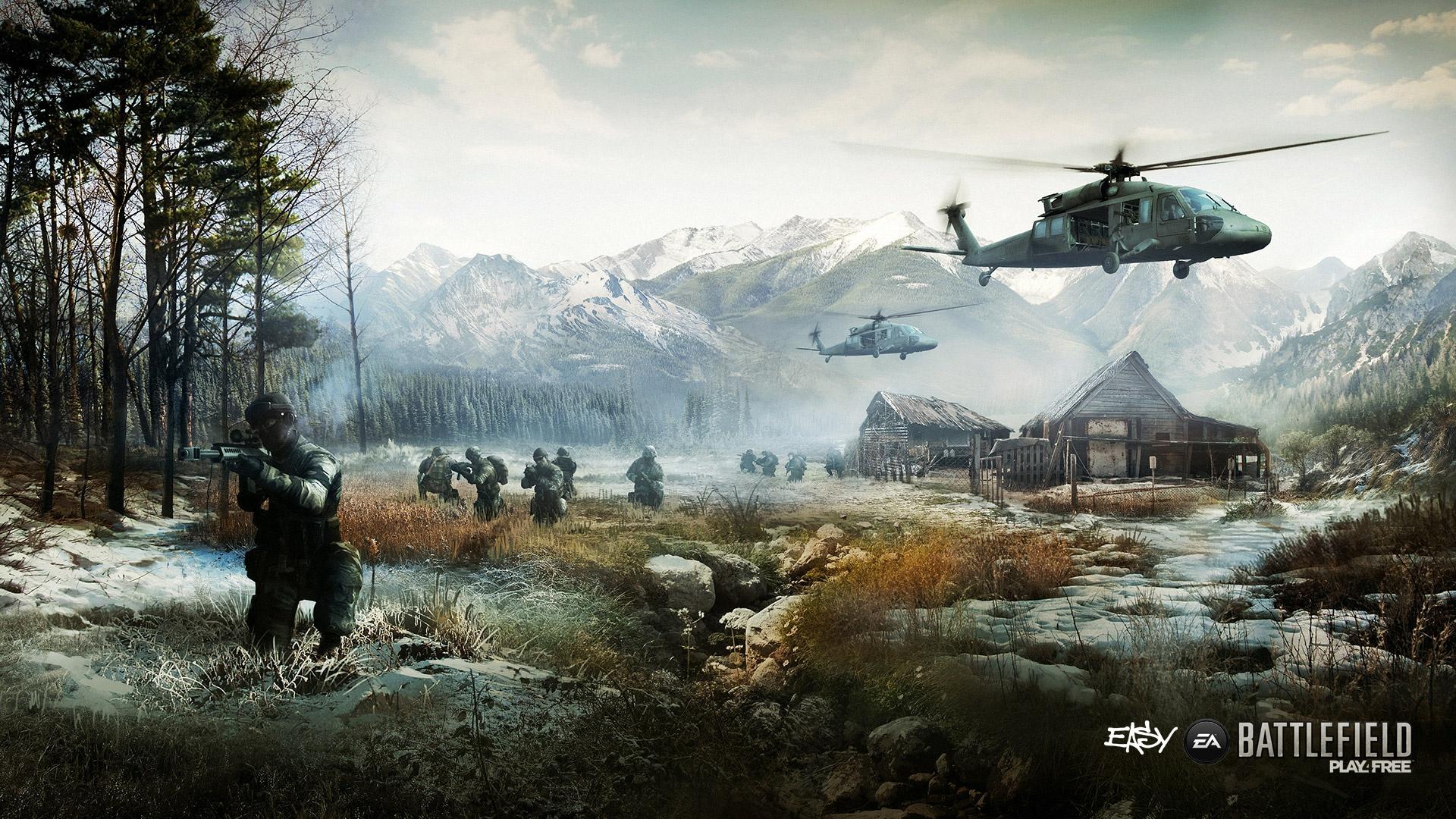 Battlefield4の兵士と風景