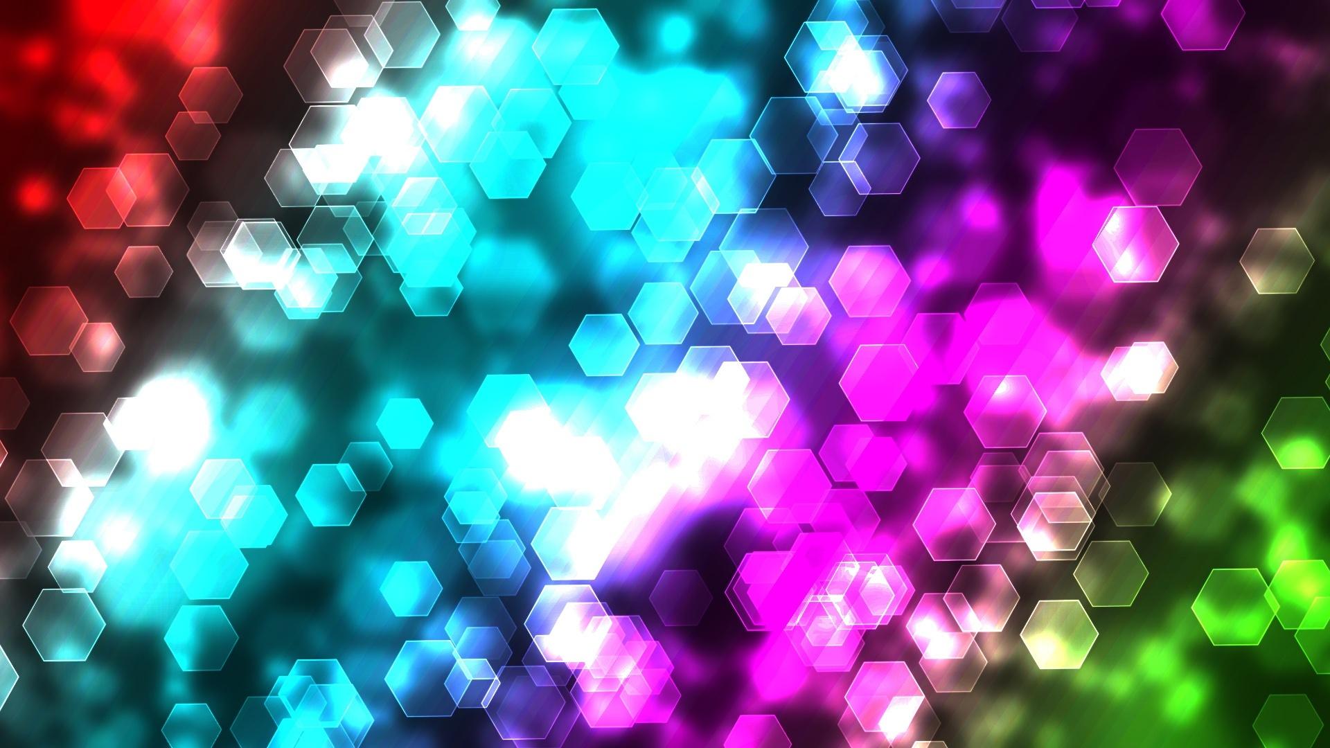 Fondo De Pantalla Abstracto Barras De Colores: Fondos De Pantalla Luces Abstractas De Colores Hexagonales