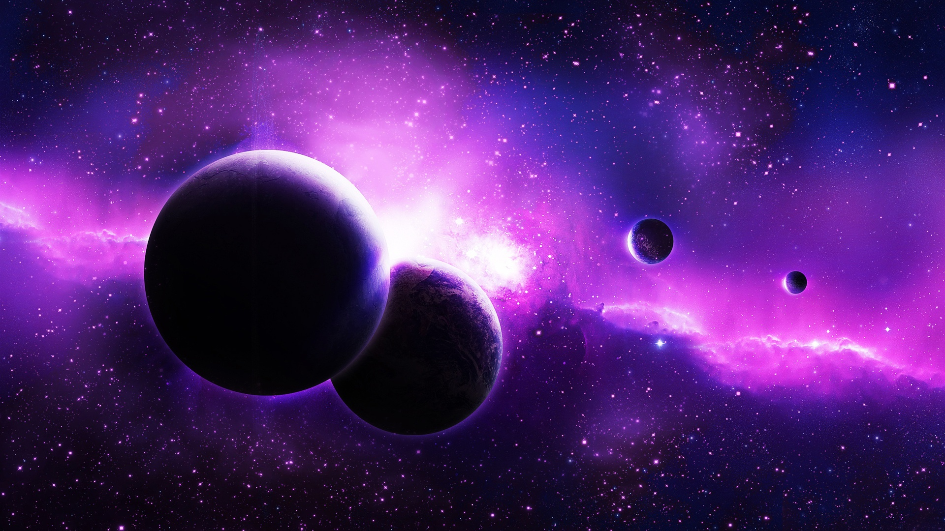 Planetas p rpura espacio estrellas fondos de pantalla for 1800 x 1200 window