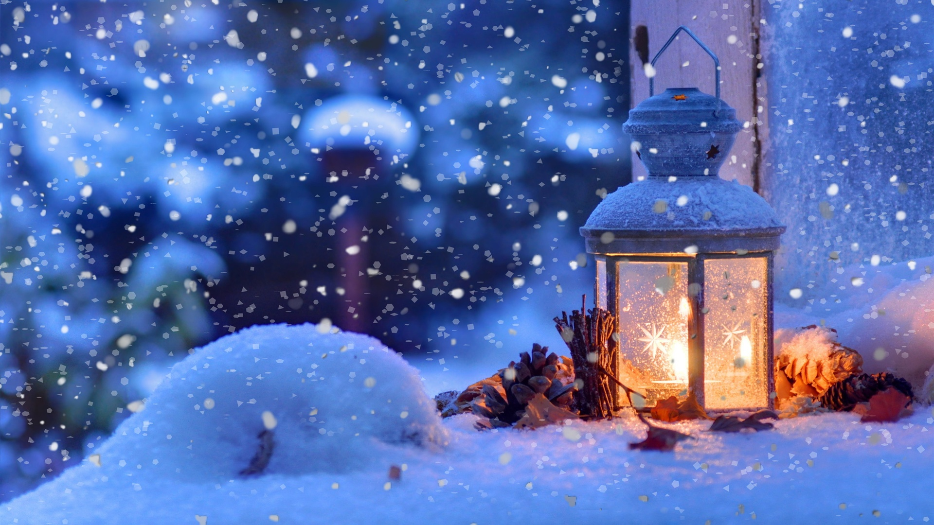 Wallpaper Christmas Snow Winter Light Snowflakes 2560x1600 HD Picture Image
