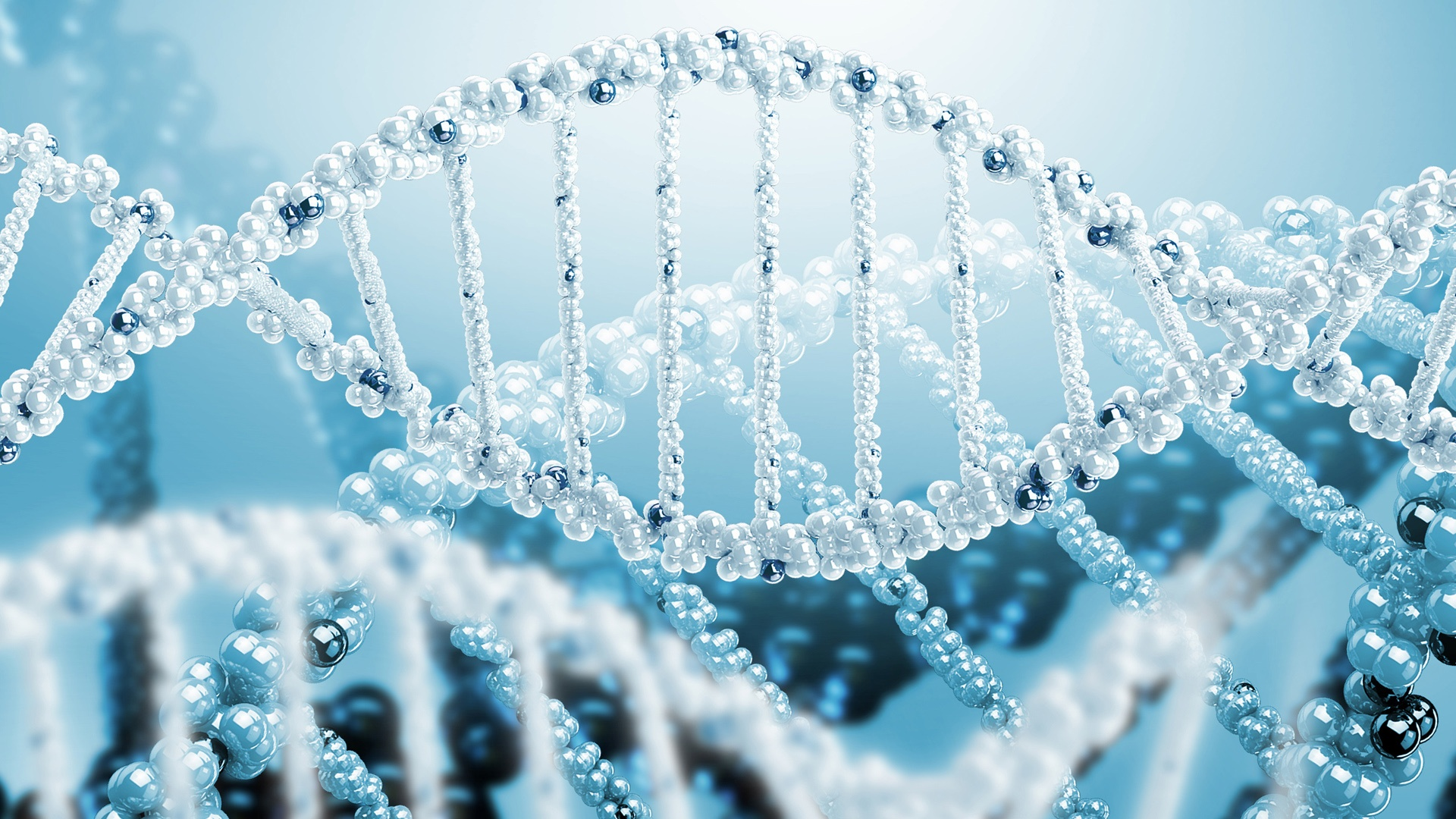 3D 렌더링 과학 DNA의 나선형 배경 화면  1920x1080 풀