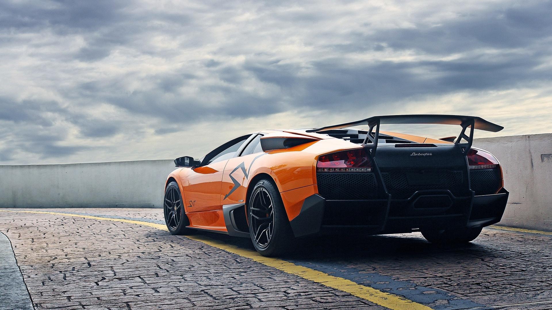 Wallpaper Lamborghini Murcielago Lp670 4 Sv Orange Supercar 1920x1200 Hd Picture Image