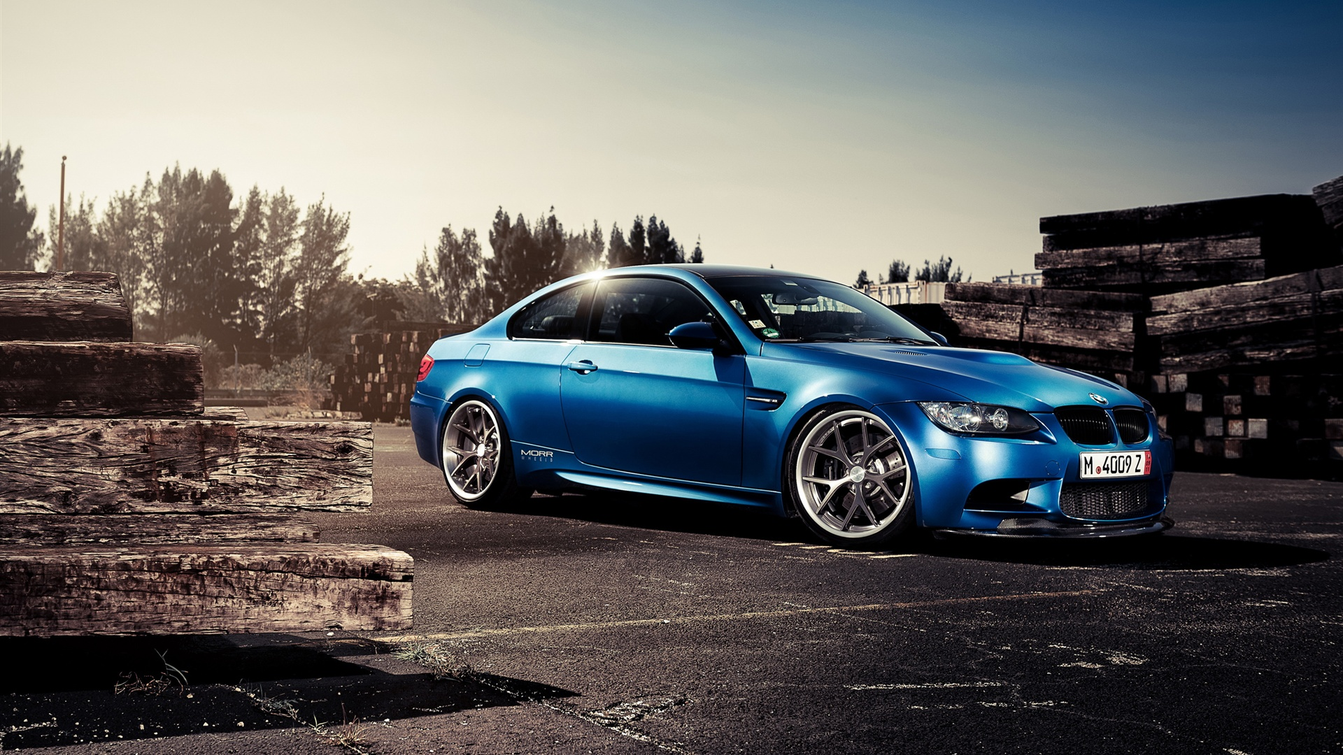 Wallpaper BMW M3 blue car side view 2560x1600 HD Picture ...