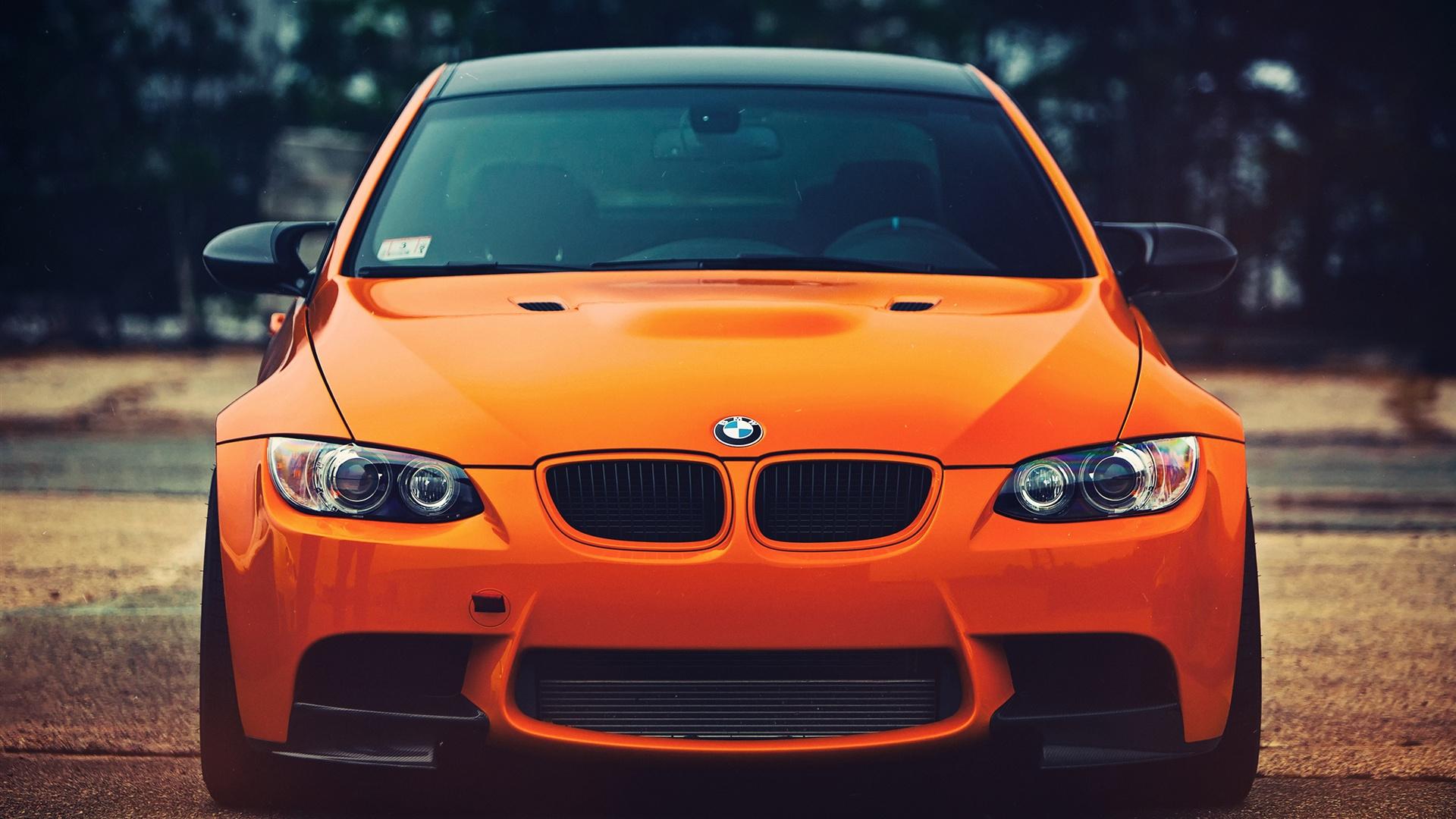 Wallpaper BMW M3 orange car front view 2560x1600 HD ...