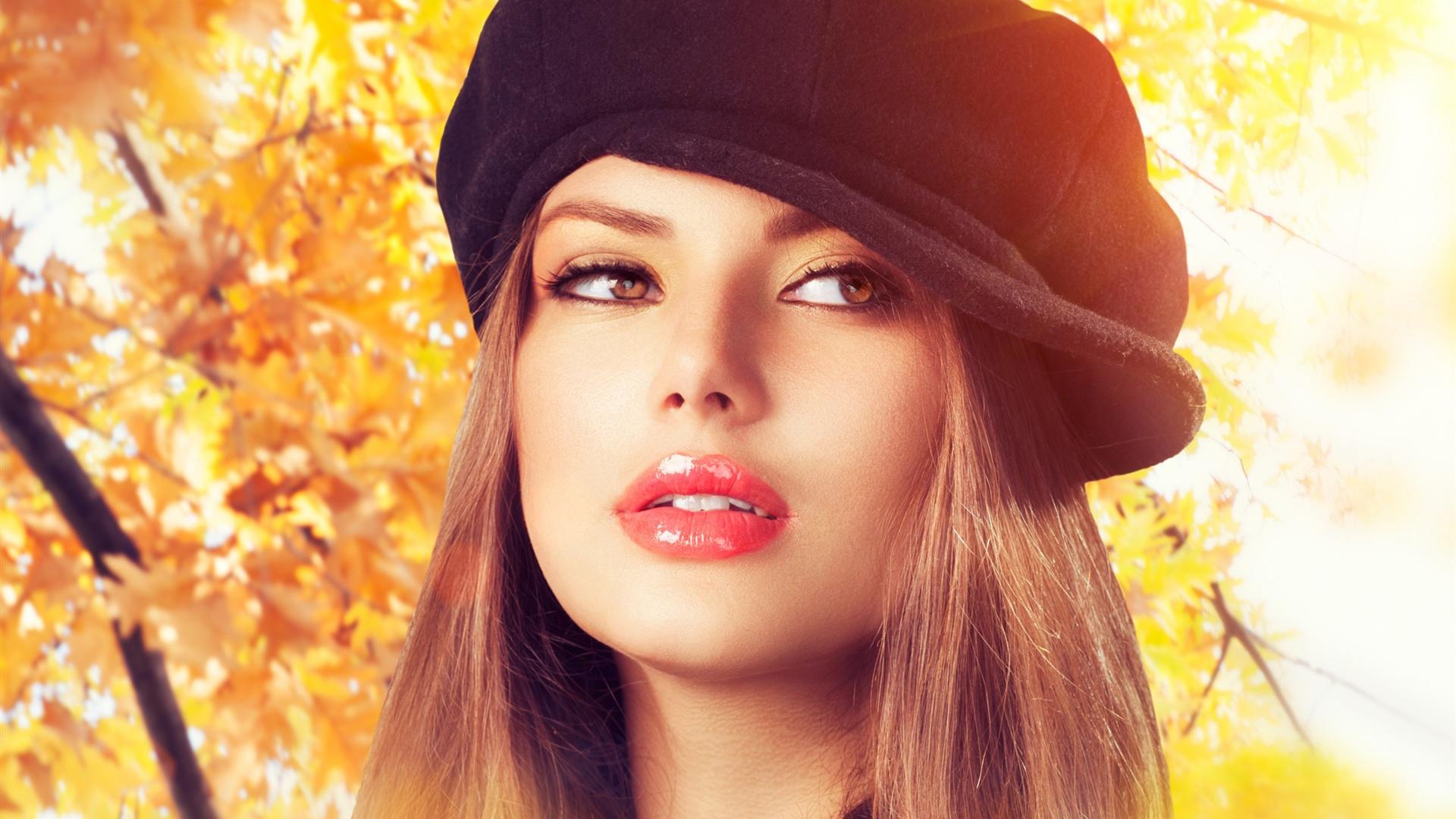 Menina bonita na esta o do outono pap is de parede for Beauty full home