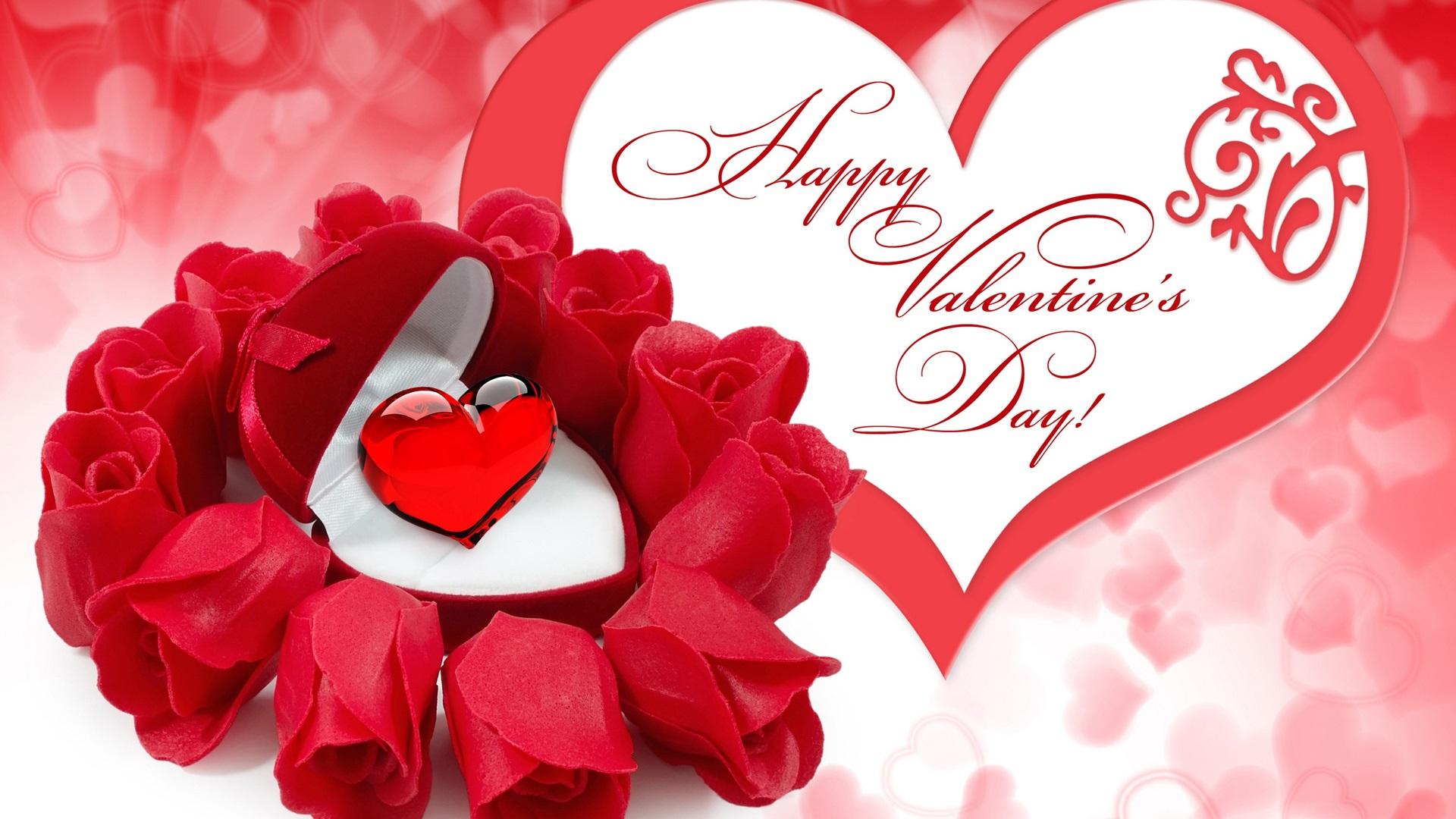 С Днем Сердца открытка - Любовь и романтика - Анимационные блестящие 69