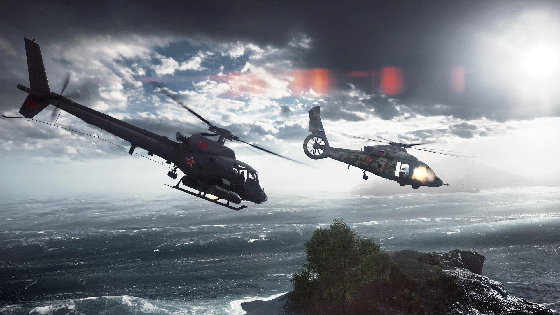 Battlefield4のヘリコプター2機