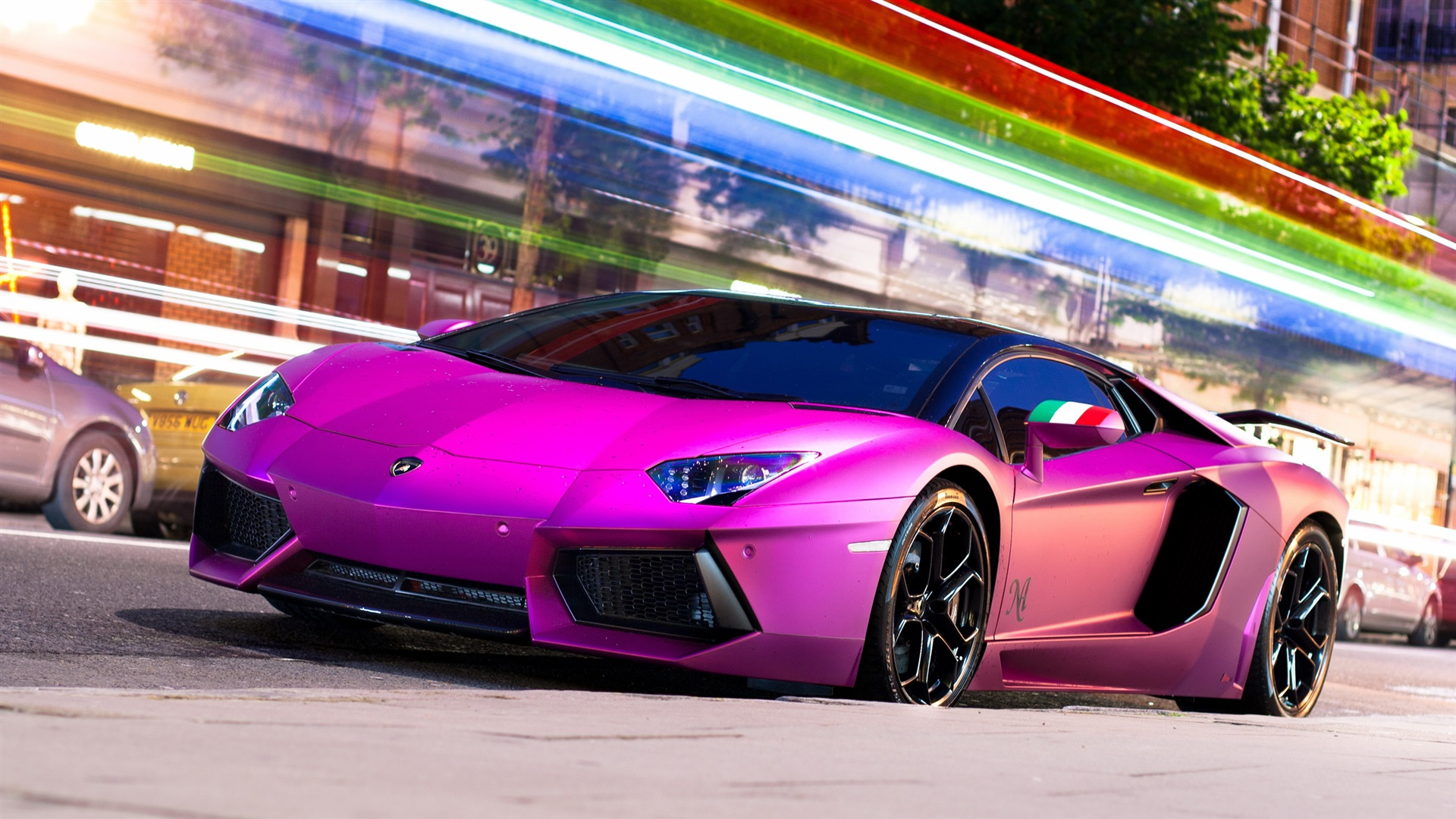 Wallpaper Purple Lamborghini Aventador Lp700 4 Supercar 2560x1440