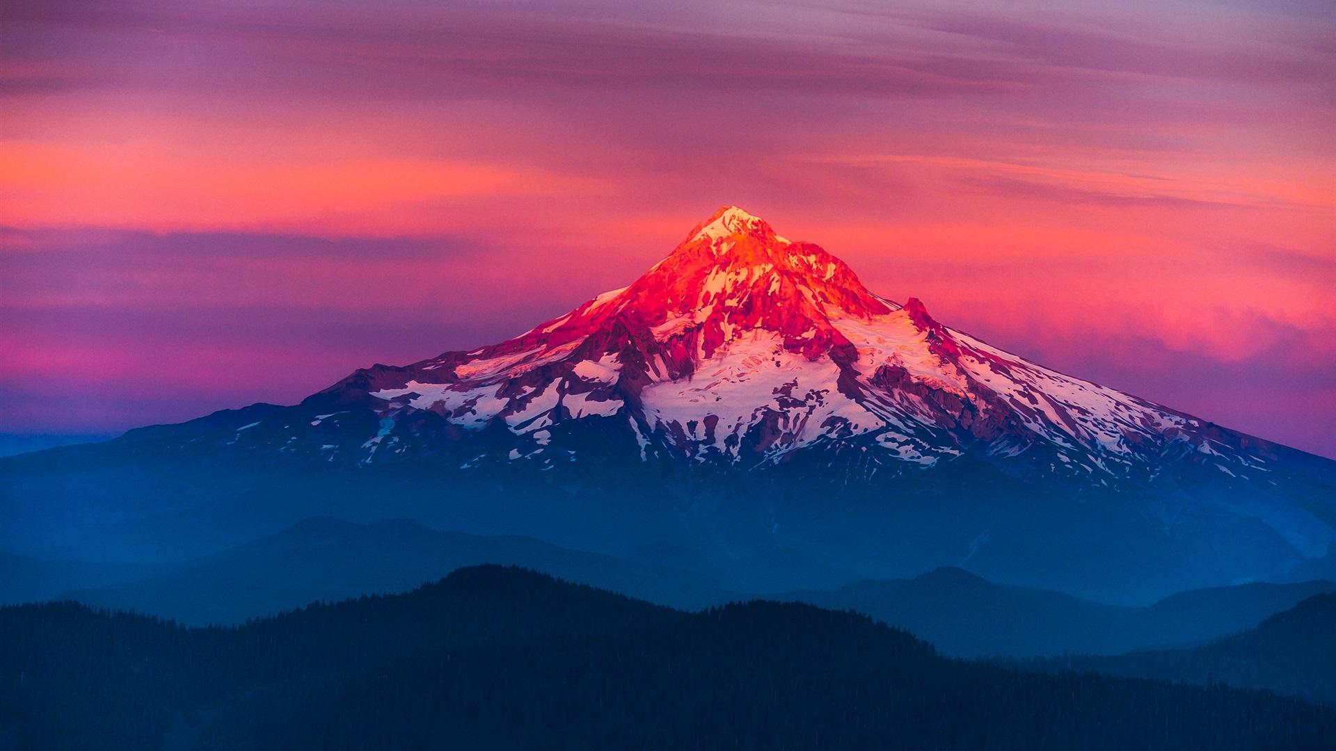 Скачать спад солнце лучи свет горы расстояние восход пейзаж природа обои